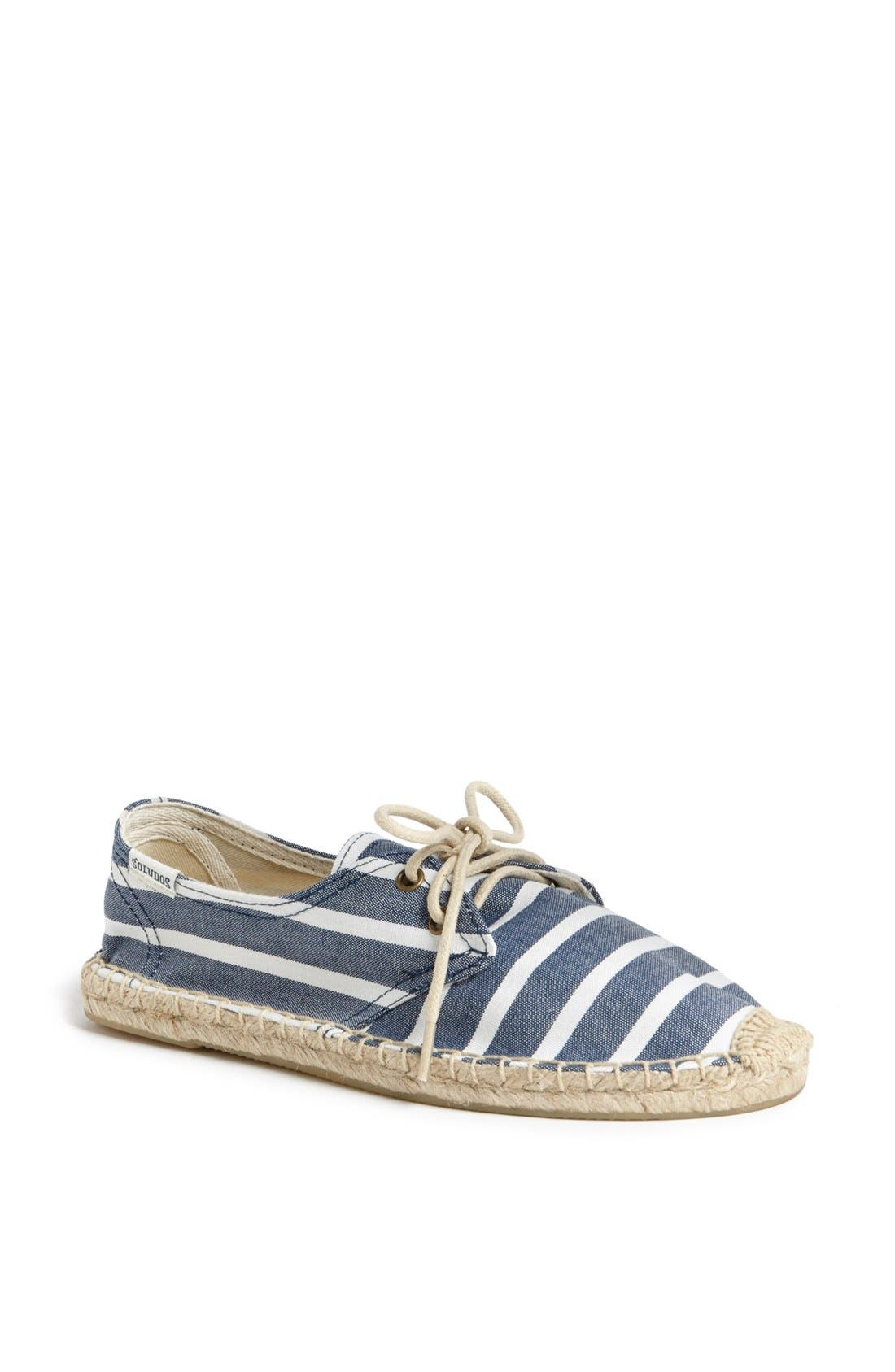 Alternate Image 1 Selected - Soludos 'Derby - Classic Stripe' Espadrille Sneaker (Women)