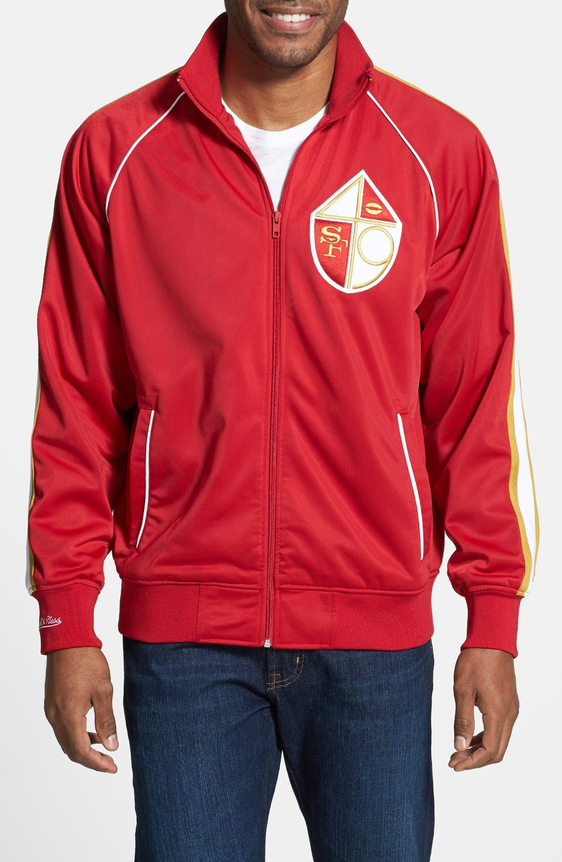 Main Image - Mitchell & Ness 'Snap Pass - San Francisco 49ers' Track Jacket
