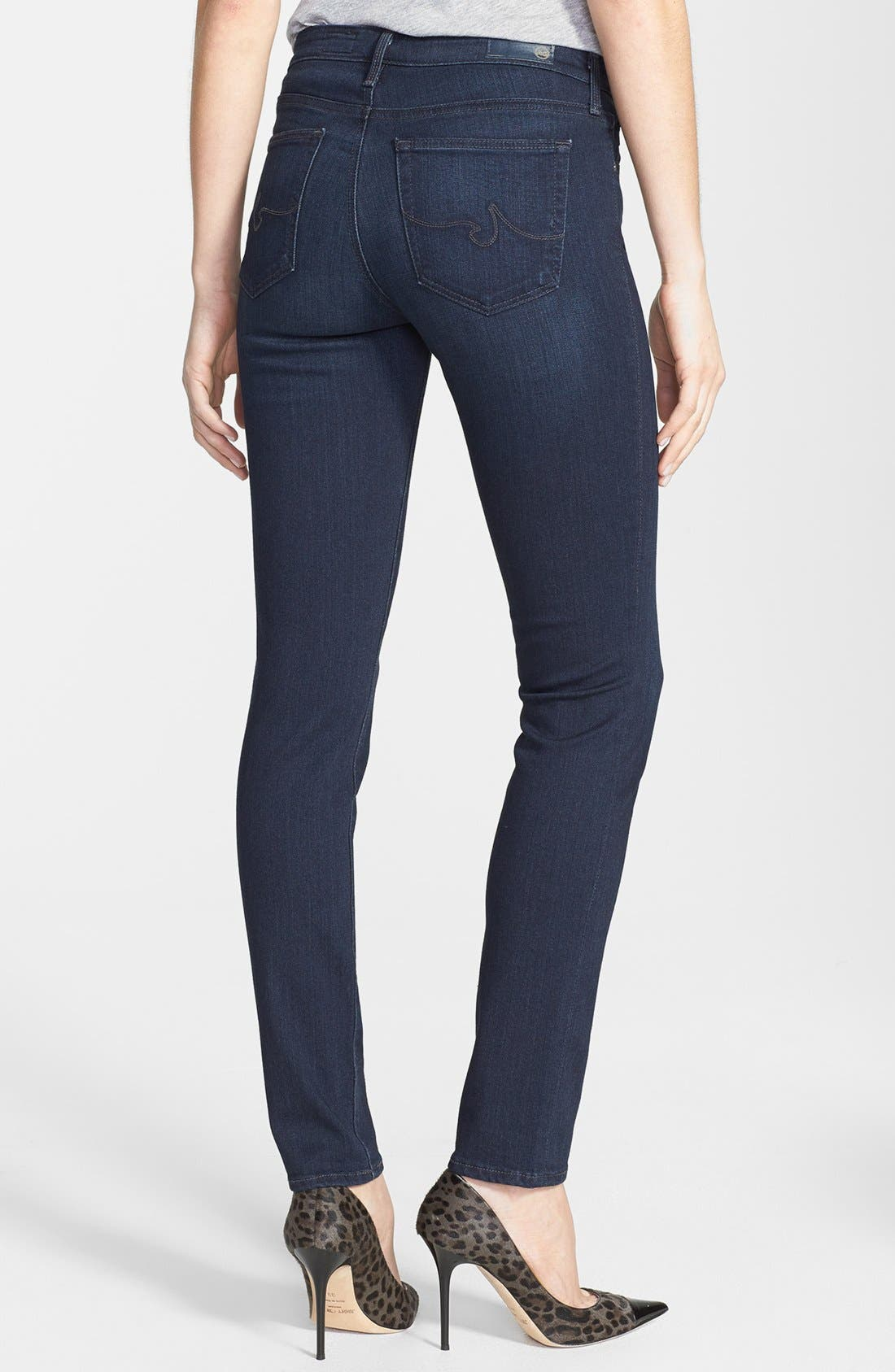 Alternate Image 2  - AG 'The Prima' Mid Rise Cigarette Skinny Jeans (Brooks)