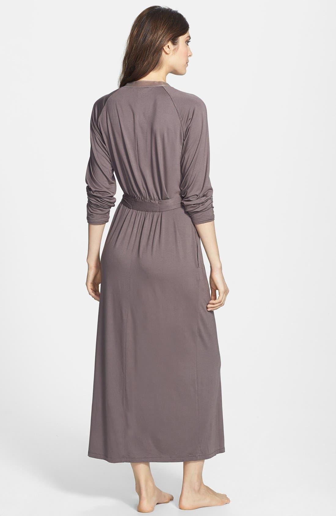 Alternate Image 2  - Calvin Klein Modal & Mesh Long Robe