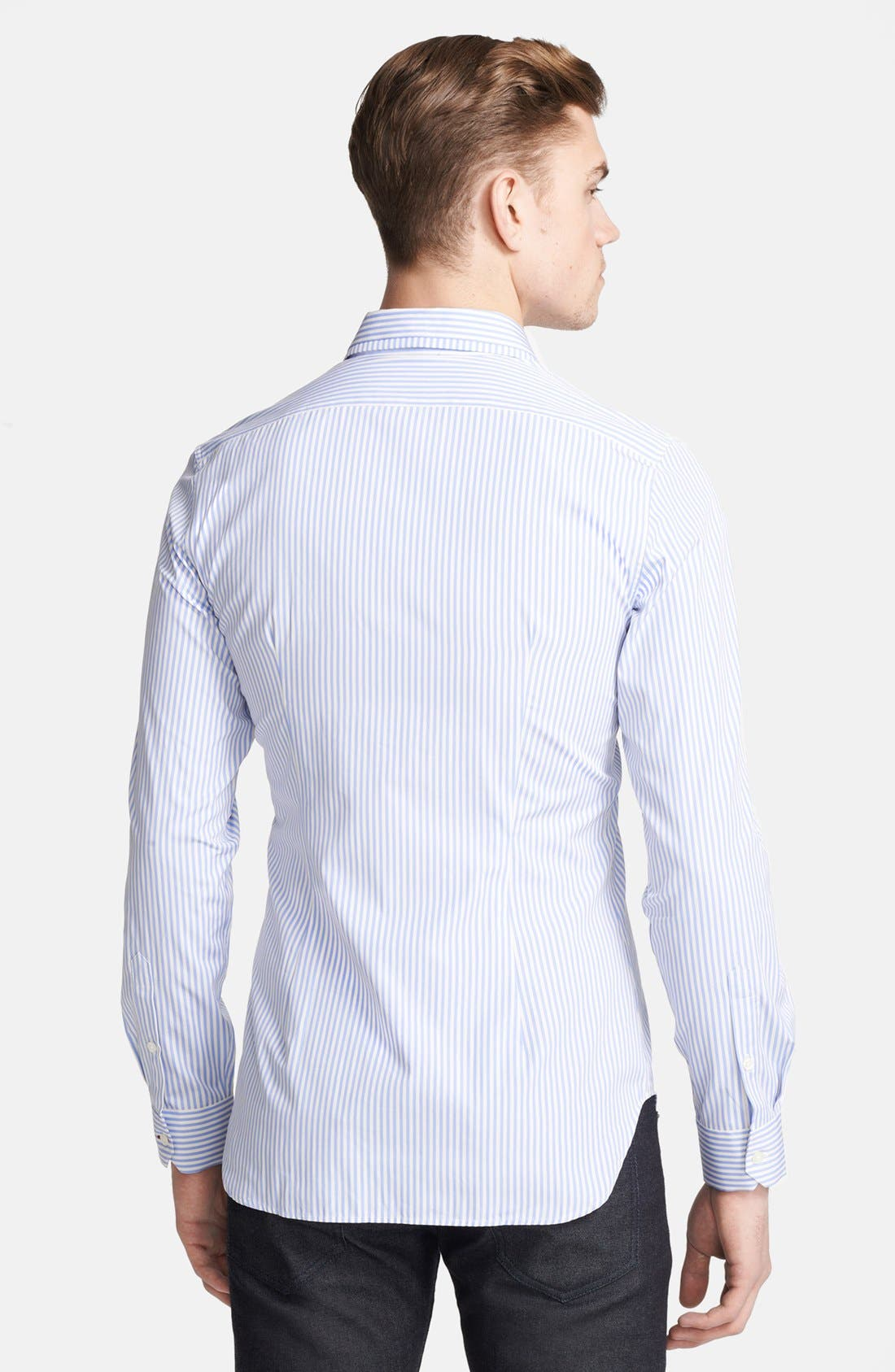 Alternate Image 2  - PS Paul Smith Slim Fit Stripe Sport Shirt