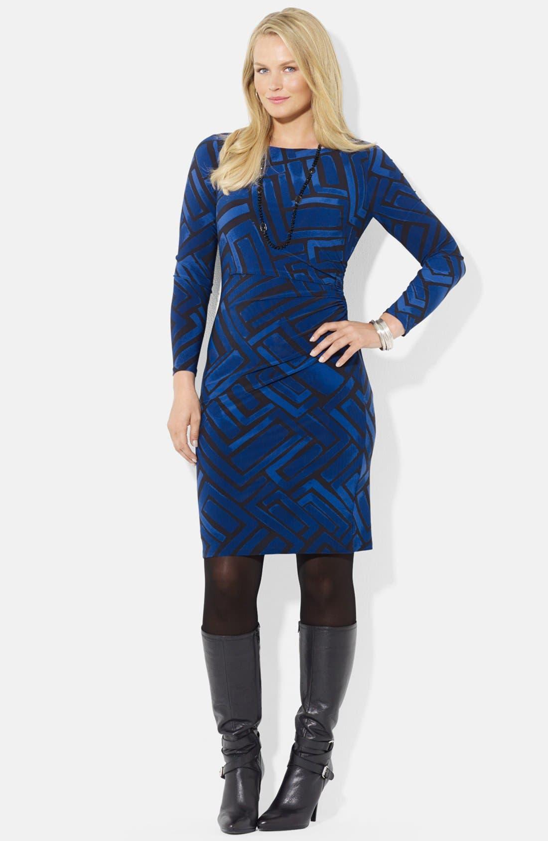 Alternate Image 1 Selected - Lauren Ralph Lauren Print Jersey Dress