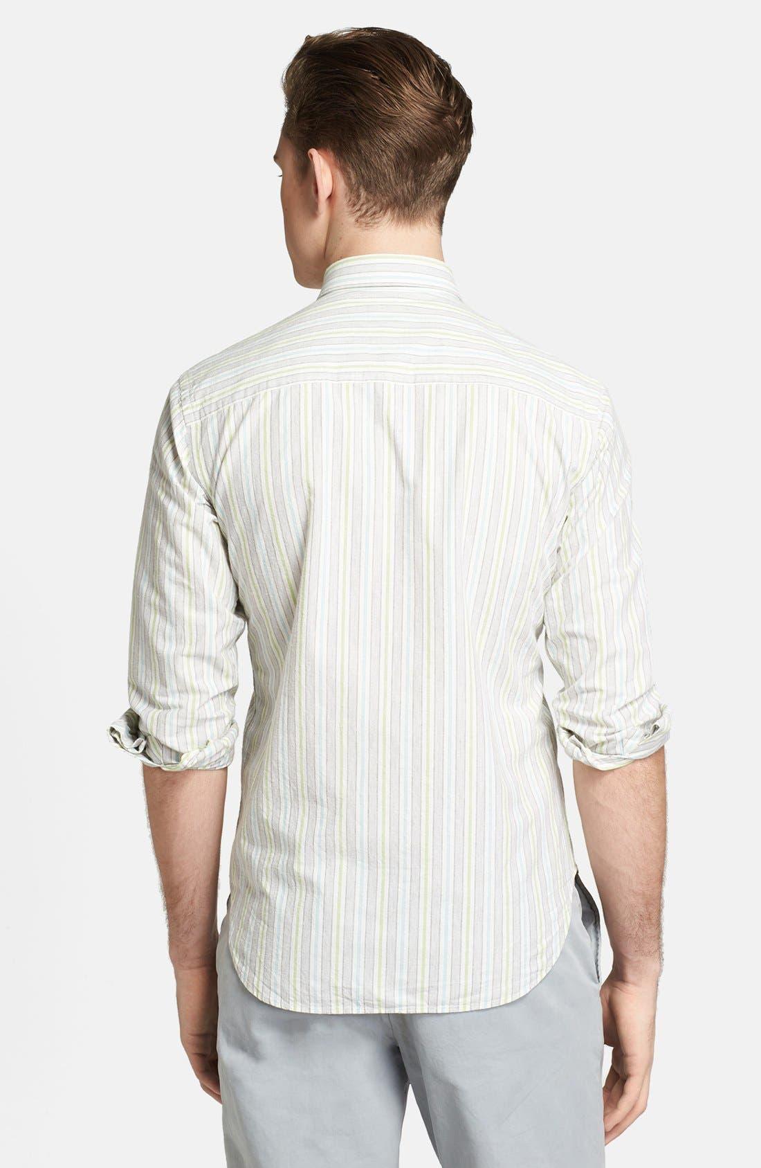 Alternate Image 2  - Billy Reid 'Courtland' Stripe Shirt