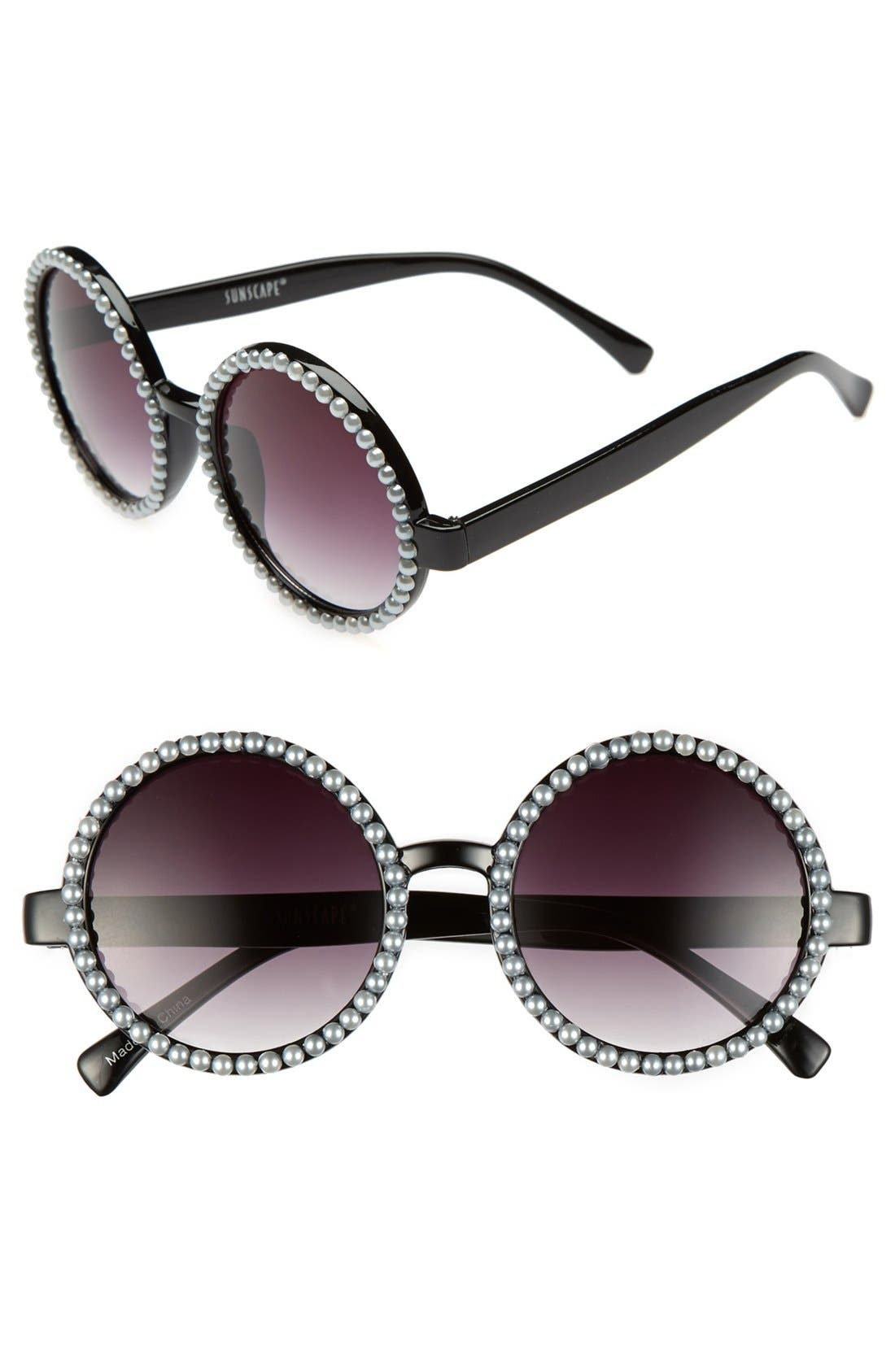 Main Image - Leith 'Silver Pearl' Retro Sunglasses