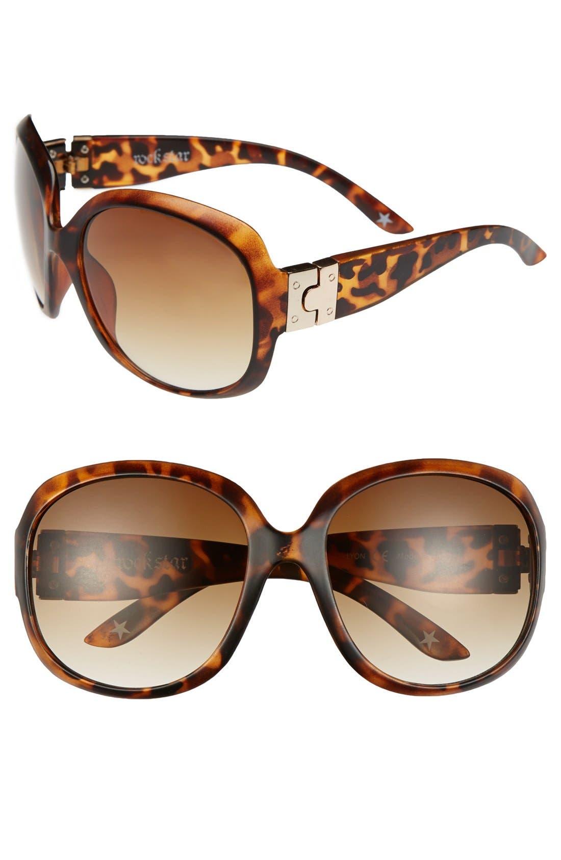 Main Image - Leith 'Anna' Oversized Sunglasses