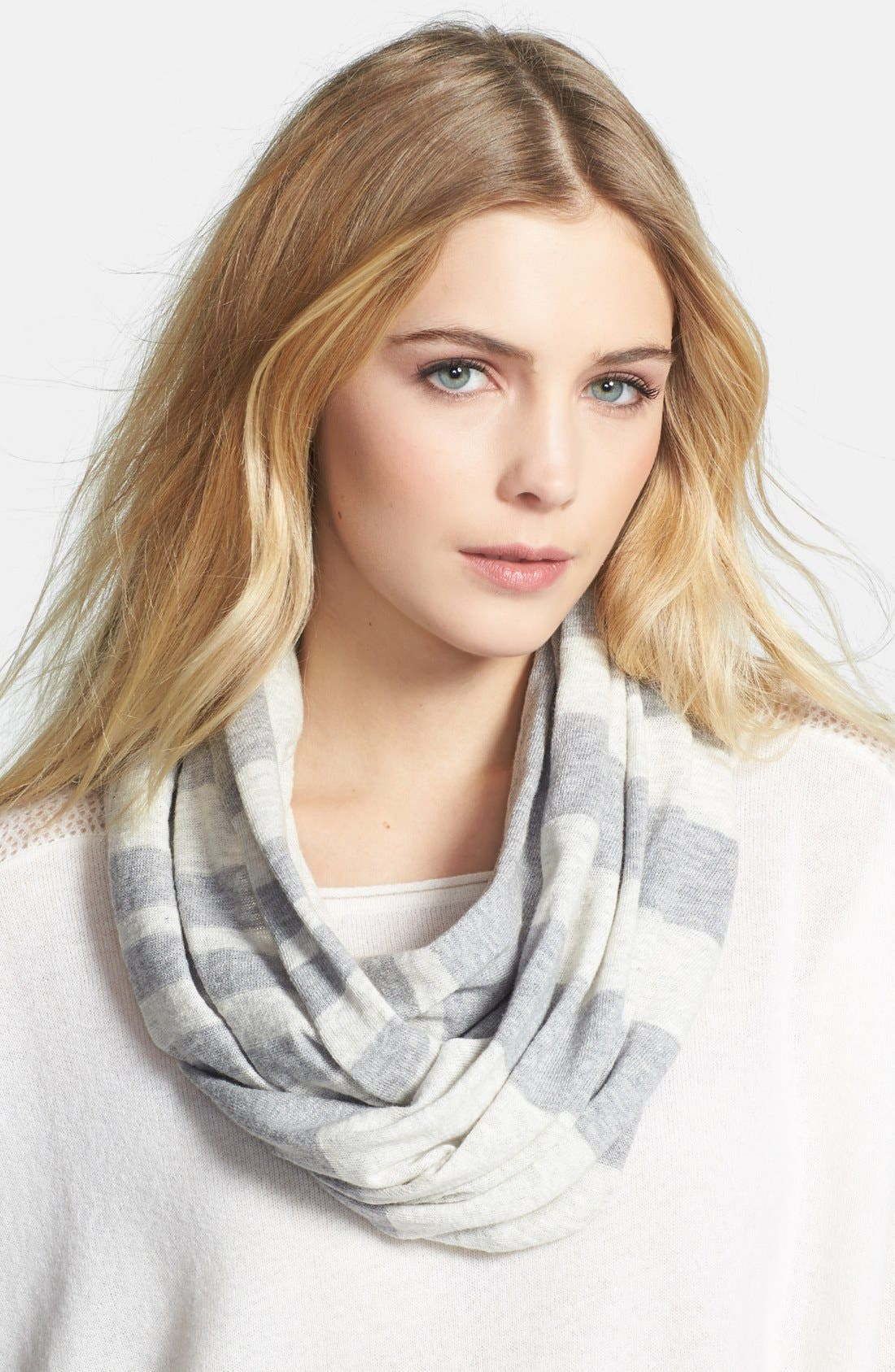 Alternate Image 1 Selected - Vince Stripe Infinity Scarf