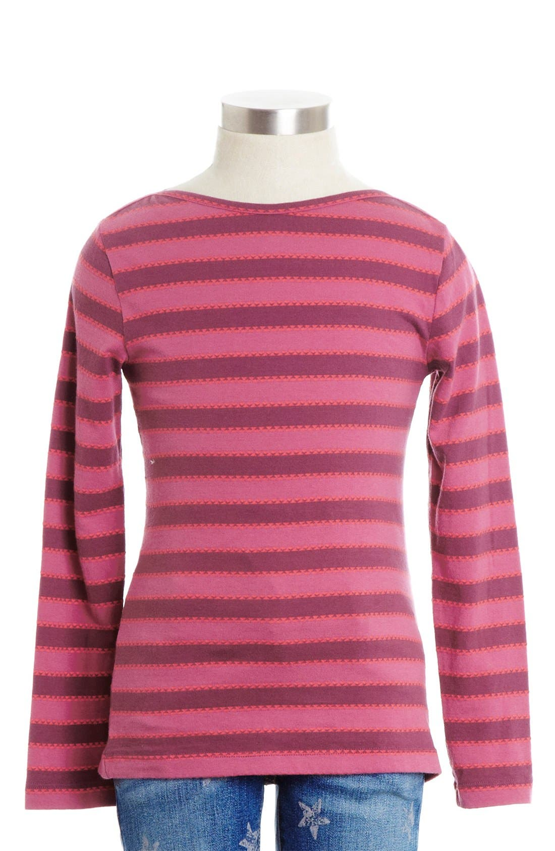 Alternate Image 1 Selected - Peek 'Tide' Long Sleeve Tee (Toddler Girls, Little Girls & Big Girls)