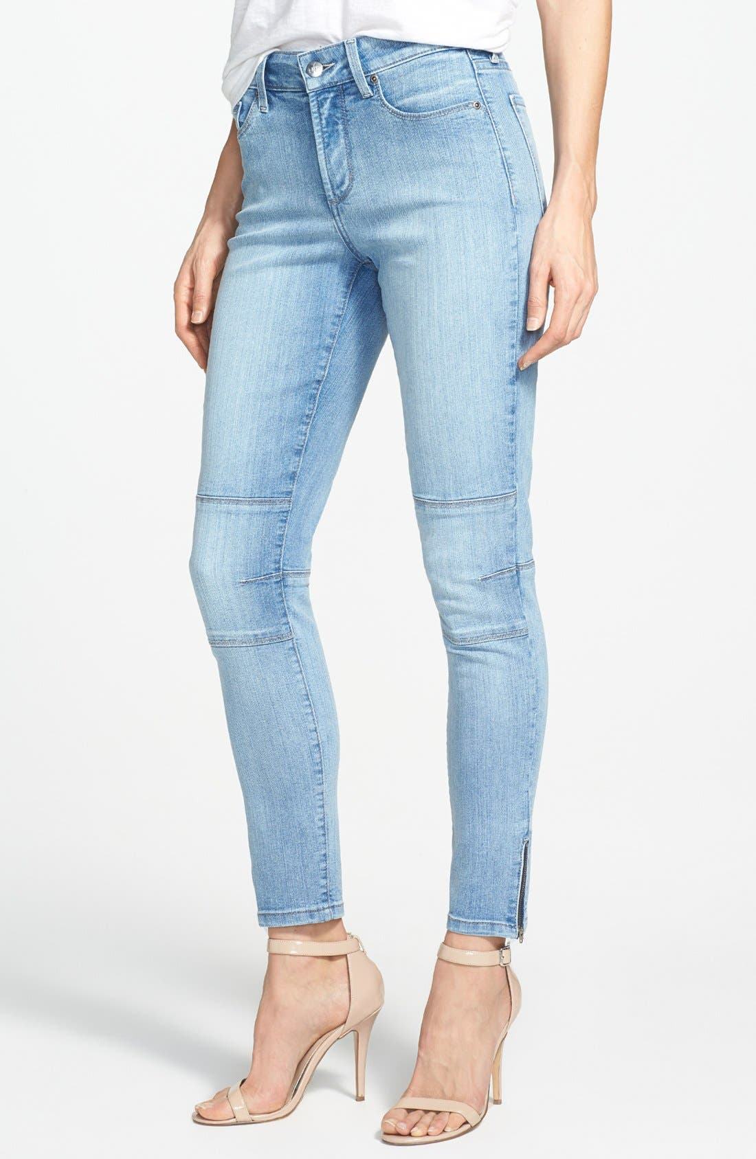 Alternate Image 1 Selected - NYDJ 'Kerry' Stretch Ankle Super Skinny Jeans (Palos Verdes) (Regular & Petite)
