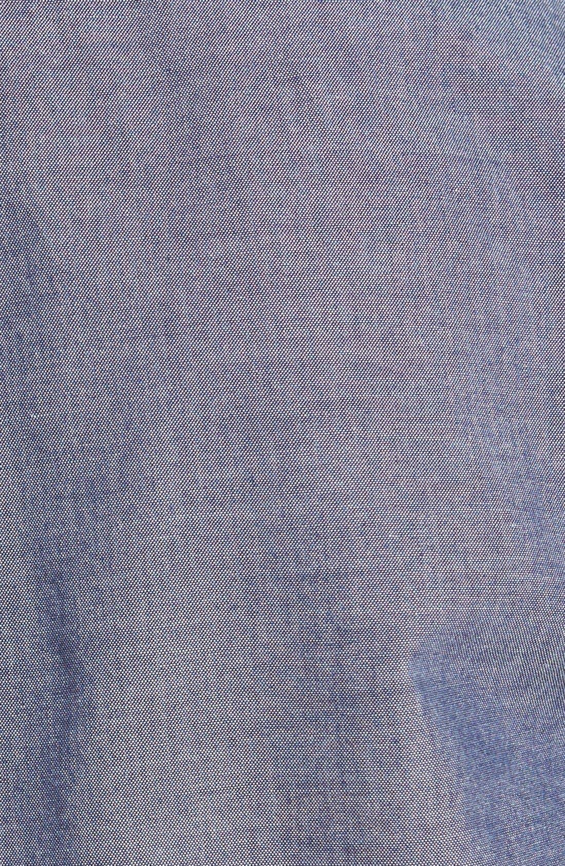 Alternate Image 3  - Grayers Trim Fit Selvedge Chambray Sport Shirt