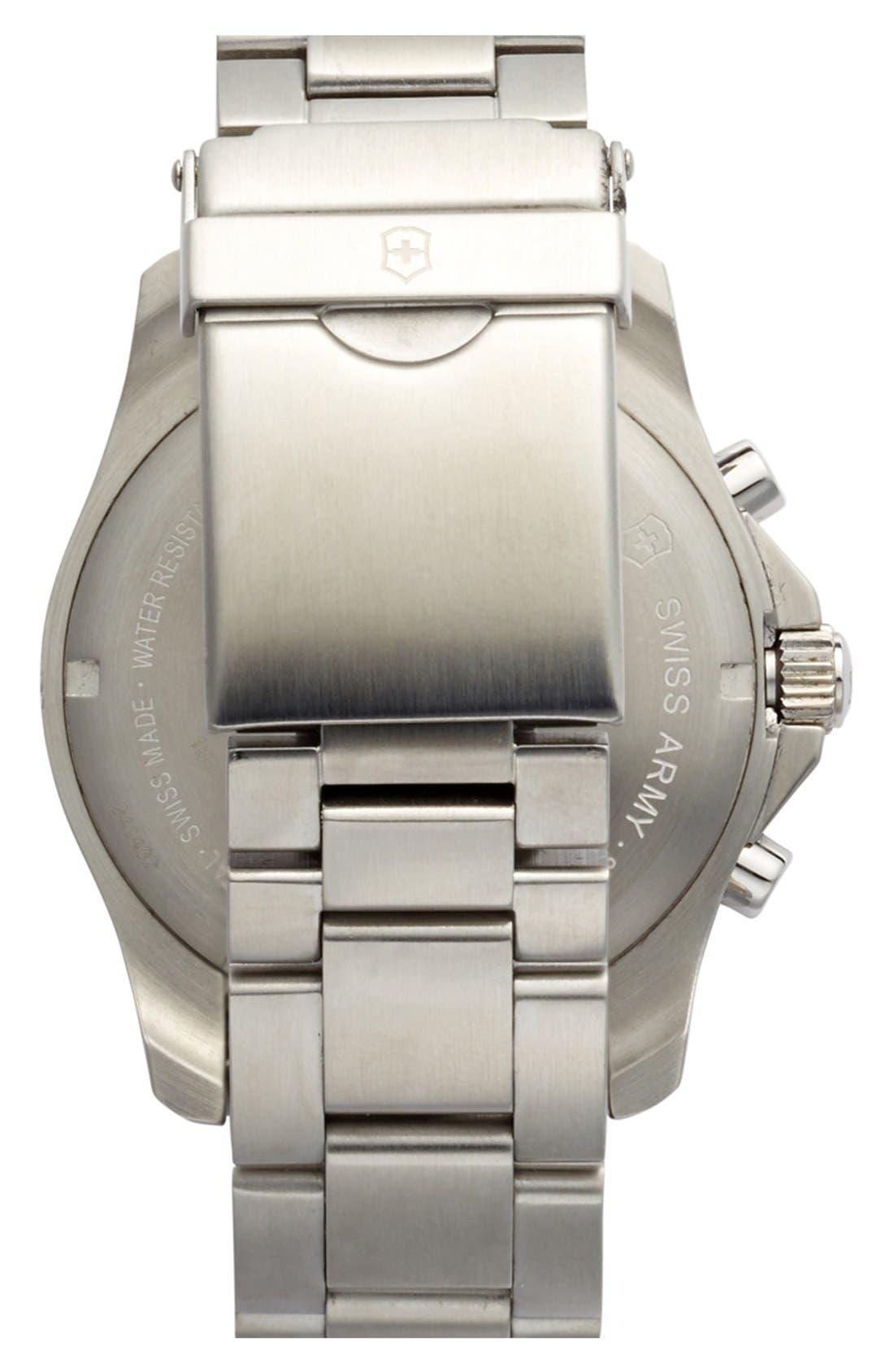 Alternate Image 2  - Victorinox Swiss Army® 'Maverick GS' Stainless Steel Chronograph Watch, 43mm