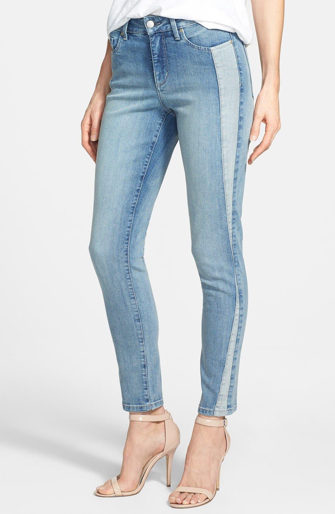 Alternate Image 1 Selected - NYDJ 'Annalynn' Side Inset Stretch Skinny Jeans (Stockton) (Regular & Petite)