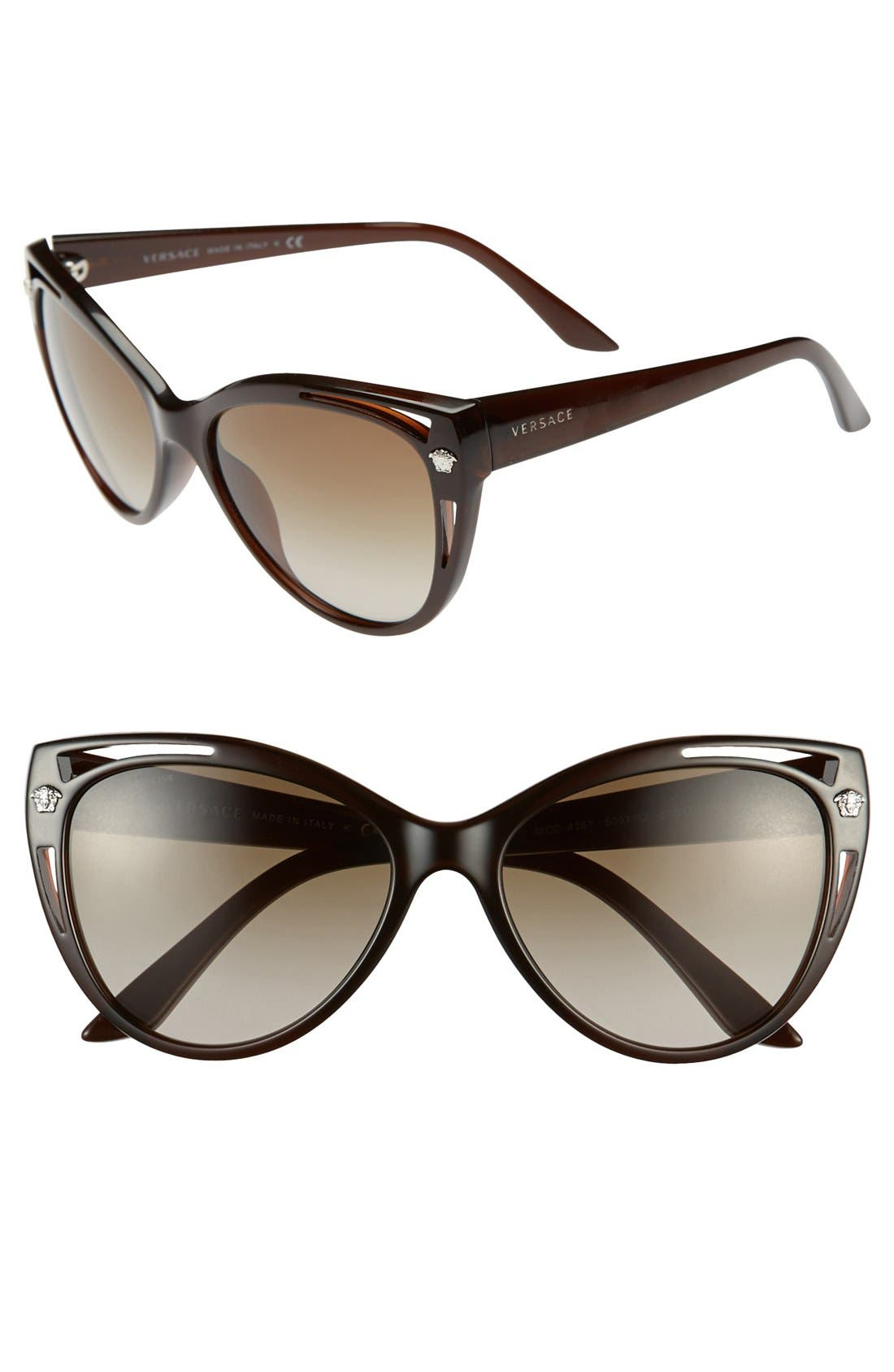 Alternate Image 1 Selected - Versace 'Pop Chic' 57mm Cat Eye Sunglasses