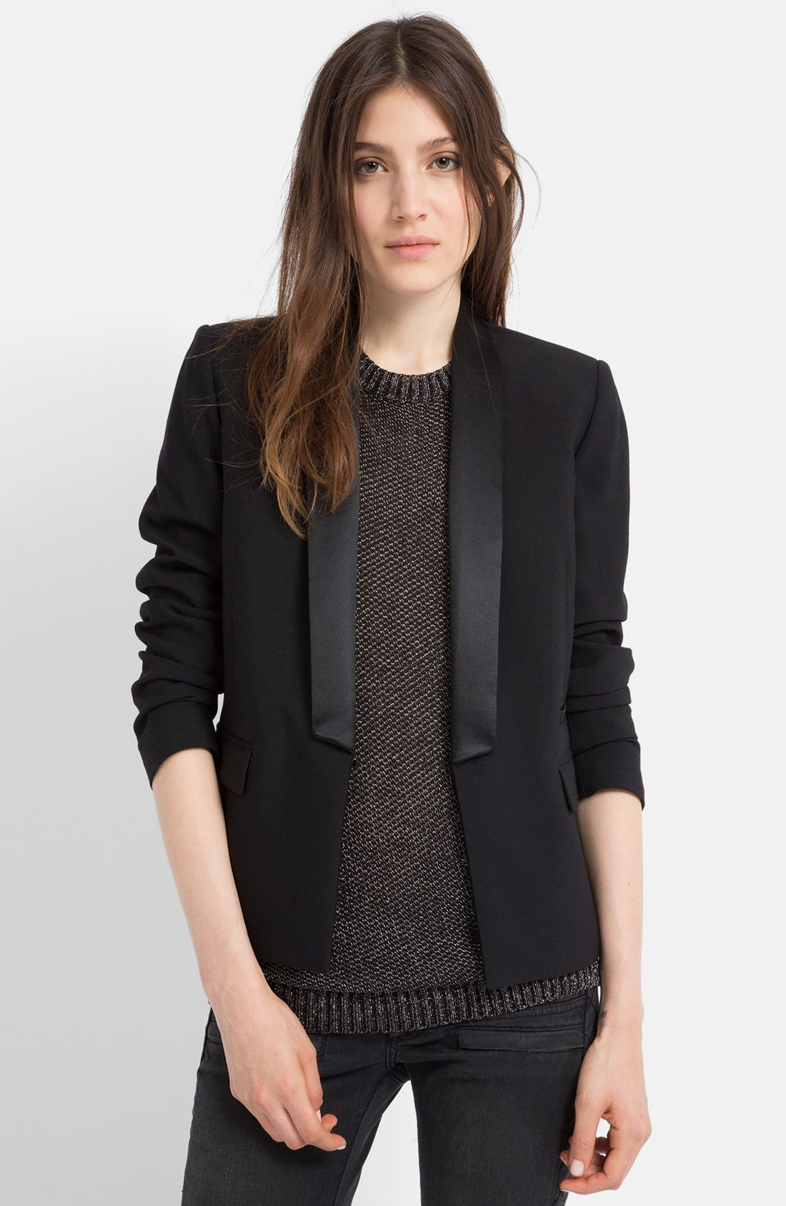 Alternate Image 1 Selected - maje 'Ernest' Stretch Blazer