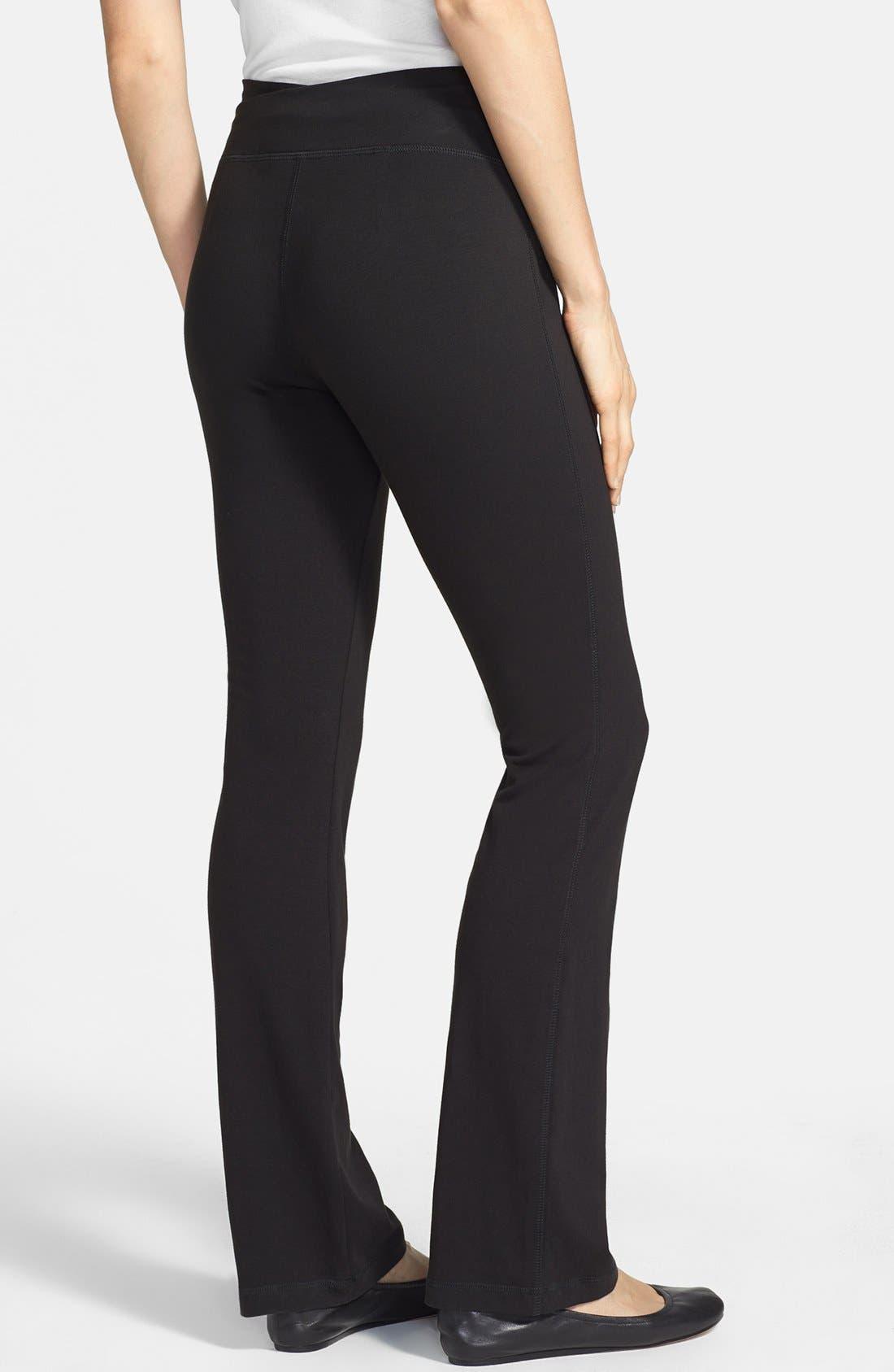 Alternate Image 2  - Eileen Fisher Organic Cotton Yoga Pants (Regular & Petite)