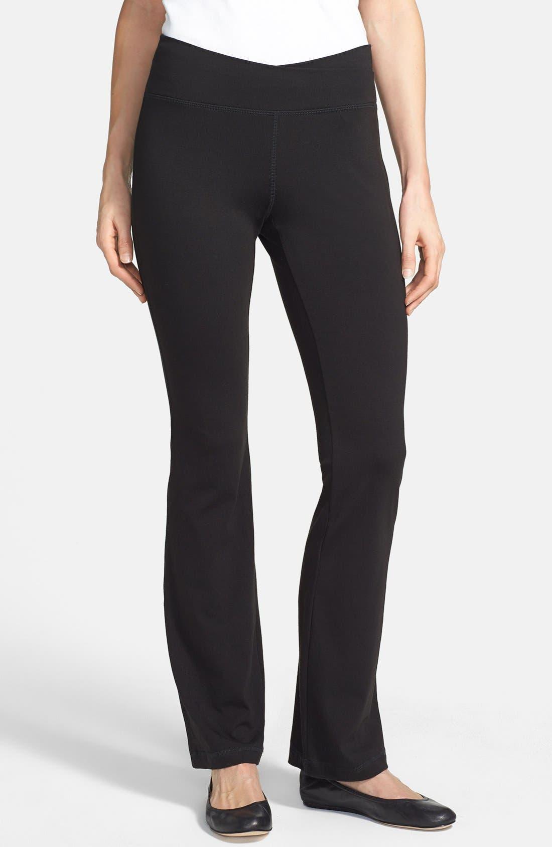 Alternate Image 1 Selected - Eileen Fisher Organic Cotton Yoga Pants (Regular & Petite)