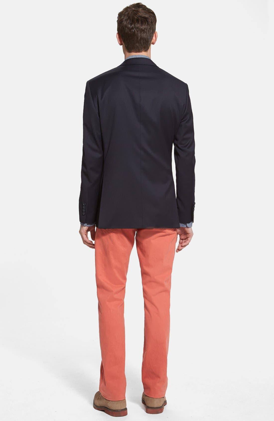 Alternate Image 5  - Grayers Trim Fit Selvedge Chambray Sport Shirt