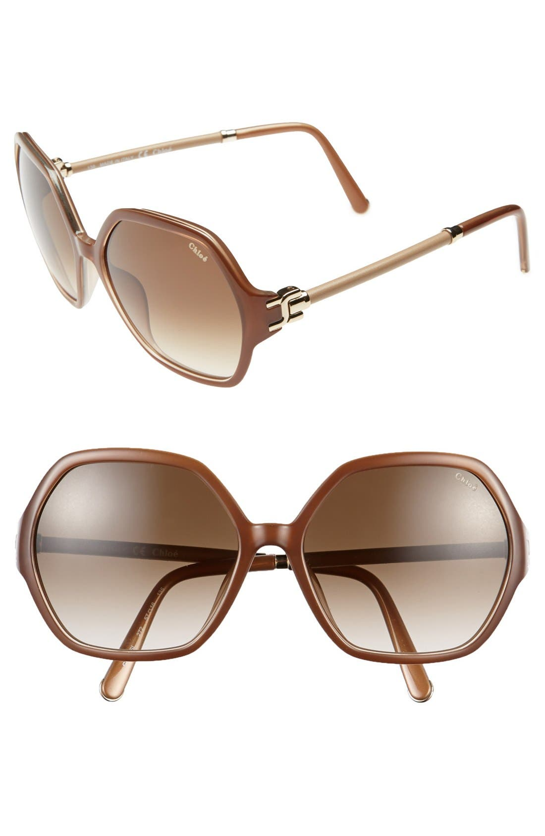 Main Image - Chloe 'Marcie' 57mm Oversized Sunglasses