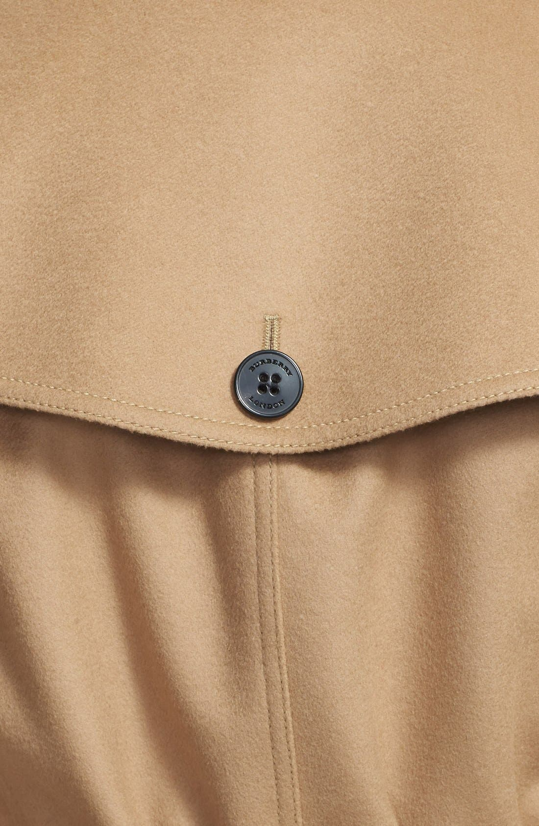 Alternate Image 4  - Burberry London Double Breasted Wool & Cashmere Trench