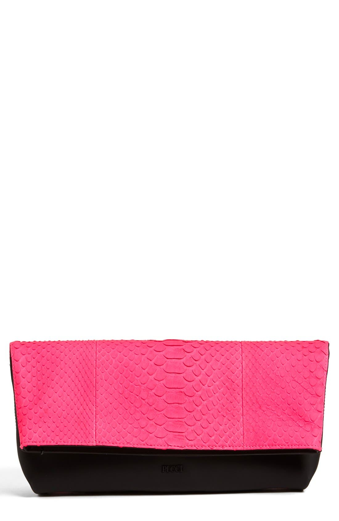 Alternate Image 1 Selected - Emilio Pucci Snakeskin Clutch