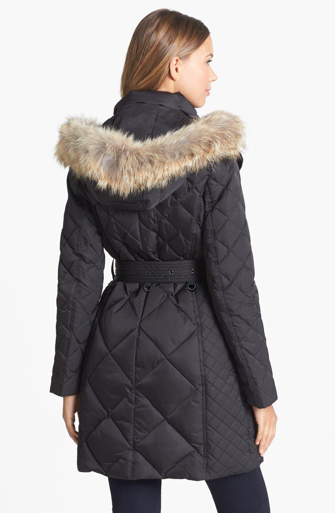 Alternate Image 2  - London Fog Genuine Coyote Fur Trim Down Coat