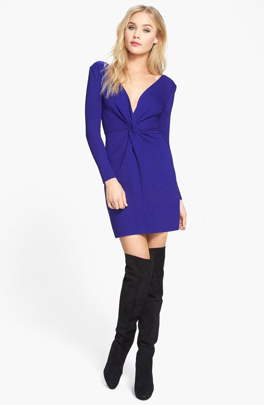 Main Image - June & Hudson Twist Front Ponte Dress