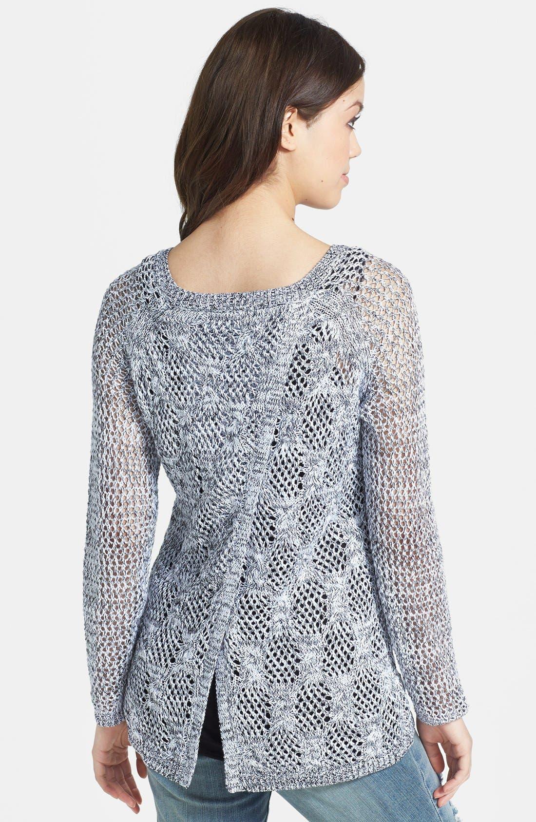 Alternate Image 2  - Jessica Simpson 'Lars' Wrap Back Mix Stitch Sweater