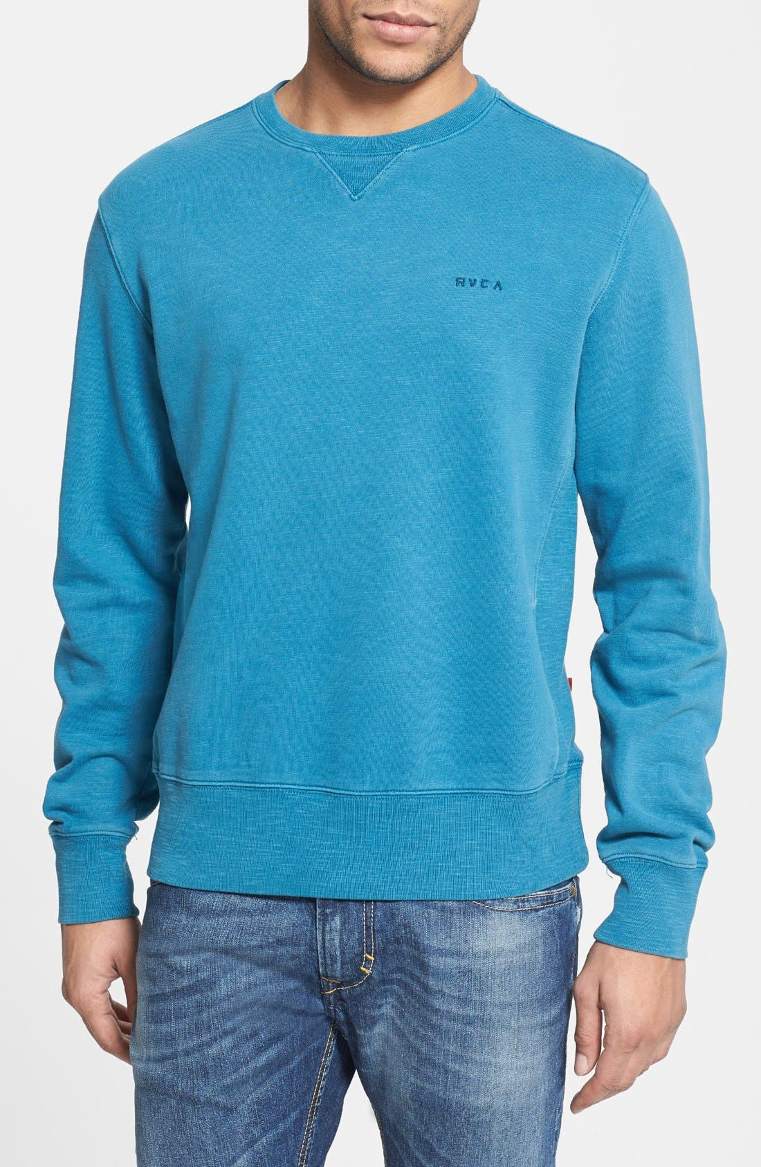 Alternate Image 1 Selected - RVCA 'Desert Sun' Crewneck Sweatshirt