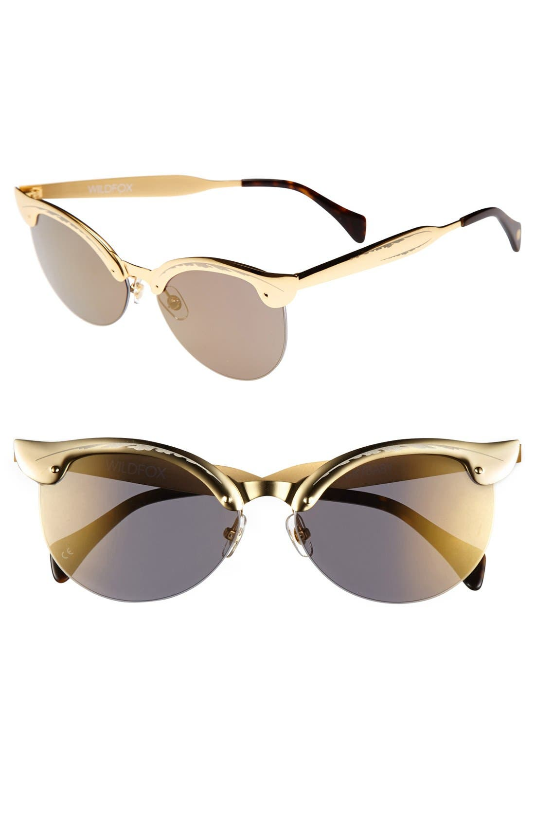 Alternate Image 1 Selected - Wildfox 'Crybaby Deluxe' 57mm Sunglasses