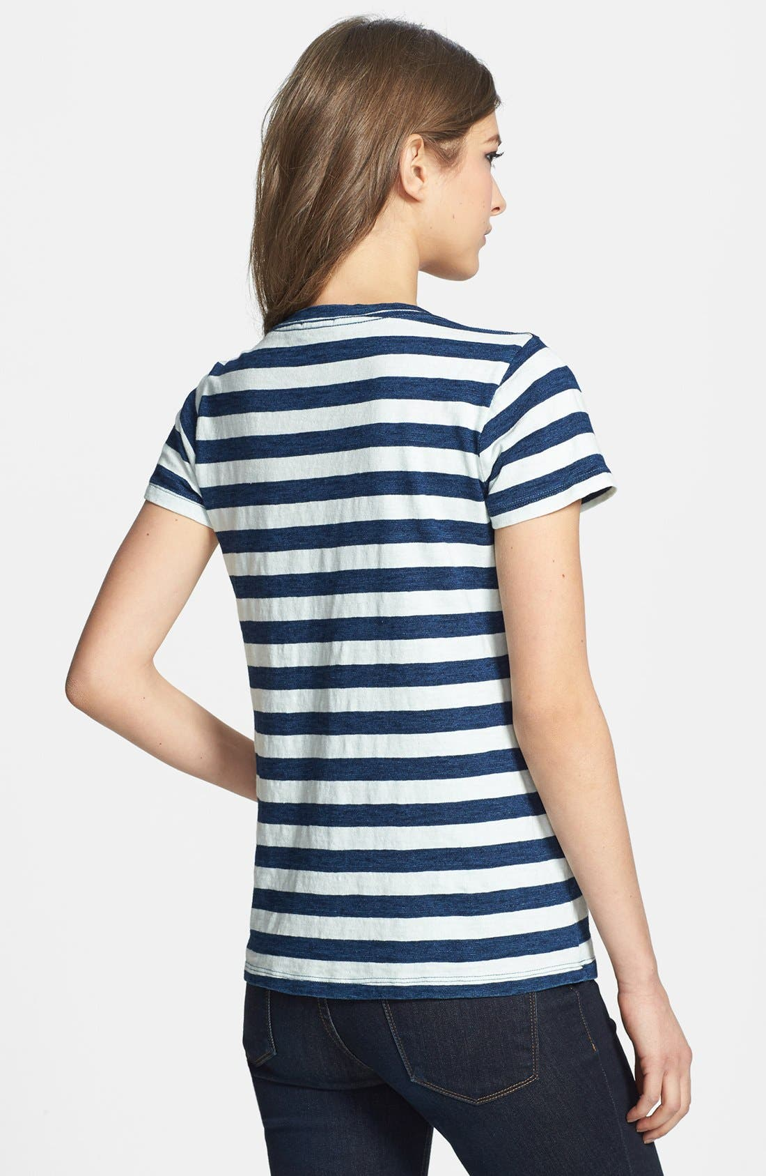 Alternate Image 2  - Splendid Stripe Scoop Neck Cotton Tee