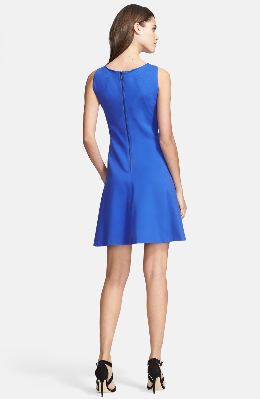 Alternate Image 2  - Armani Collezioni Sleeveless Double Face Jersey Dress