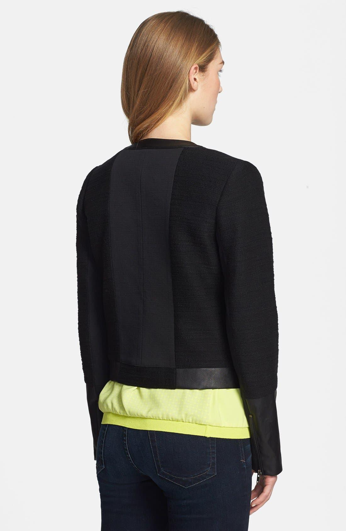 Alternate Image 2  - Halogen® Mixed Media Zip Jacket