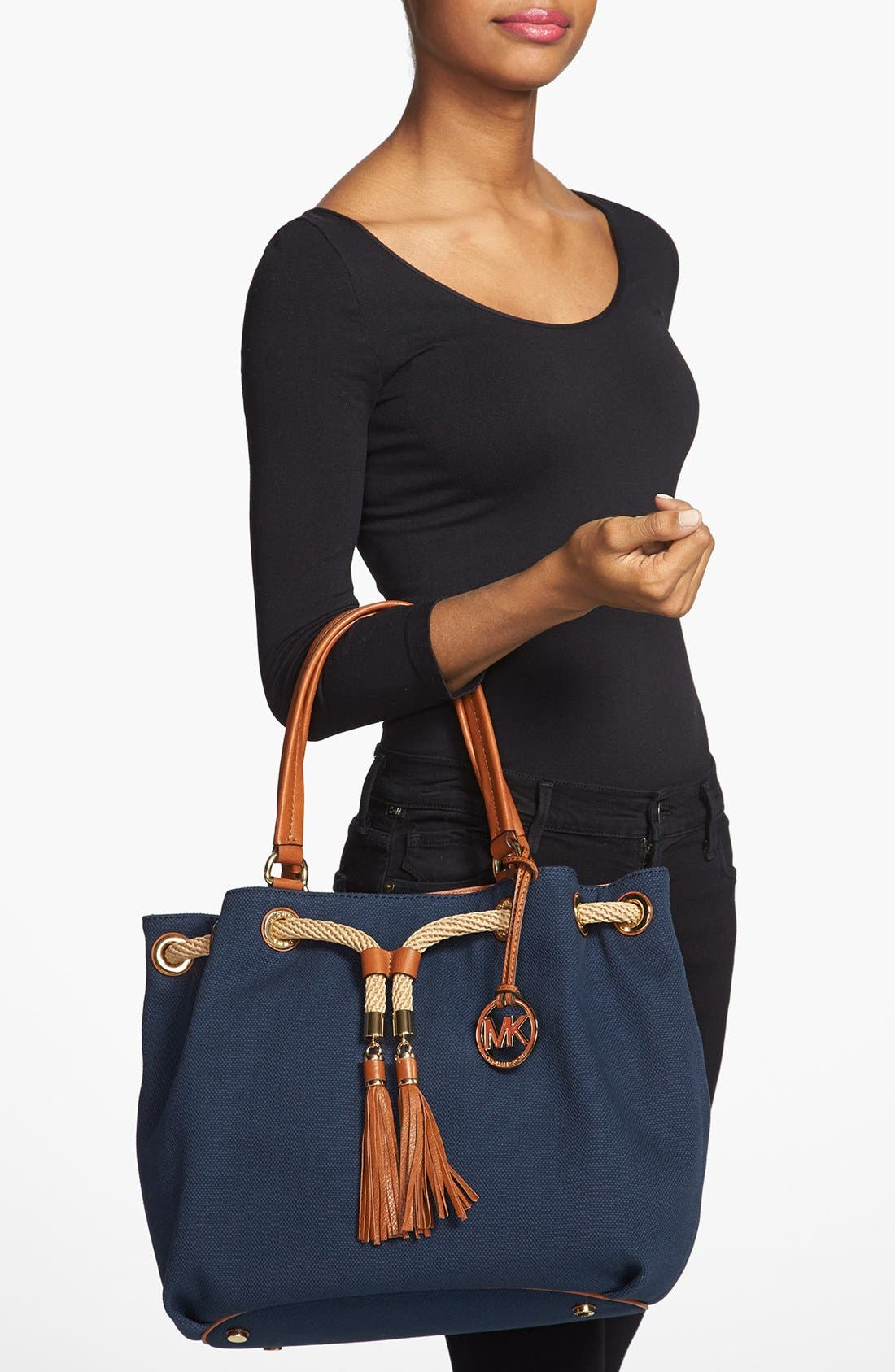 Alternate Image 2  - MICHAEL Michael Kors 'Large' Canvas Drawstring Tote