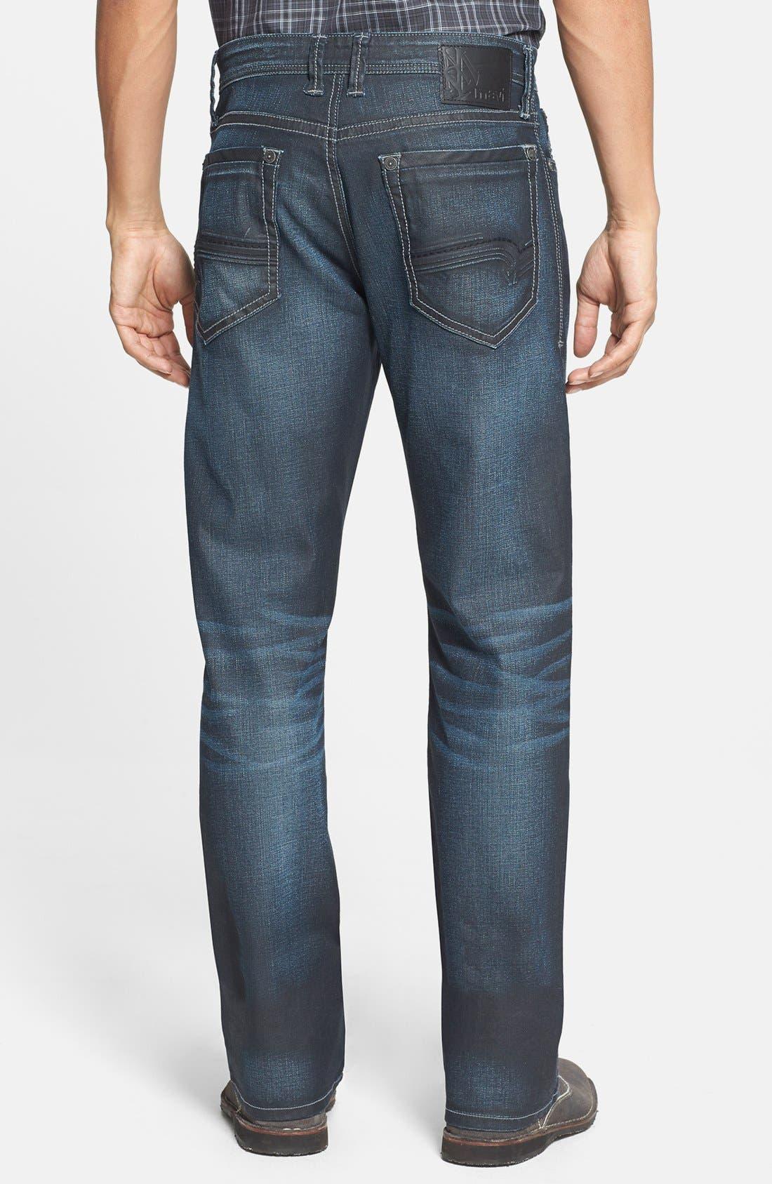 Alternate Image 2  - Mavi Jeans 'Matt' Relaxed Straight Leg Jeans (Coated Utah)