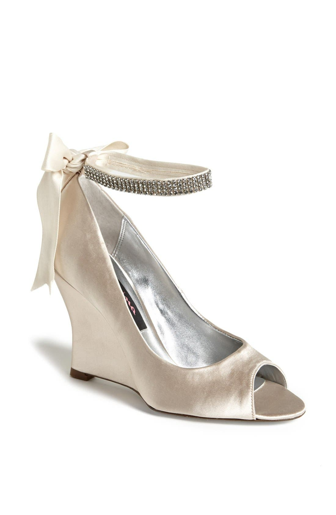 Alternate Image 1 Selected - Nina 'Emma' Crystal Embellished Ankle Strap Pump (Online Only)