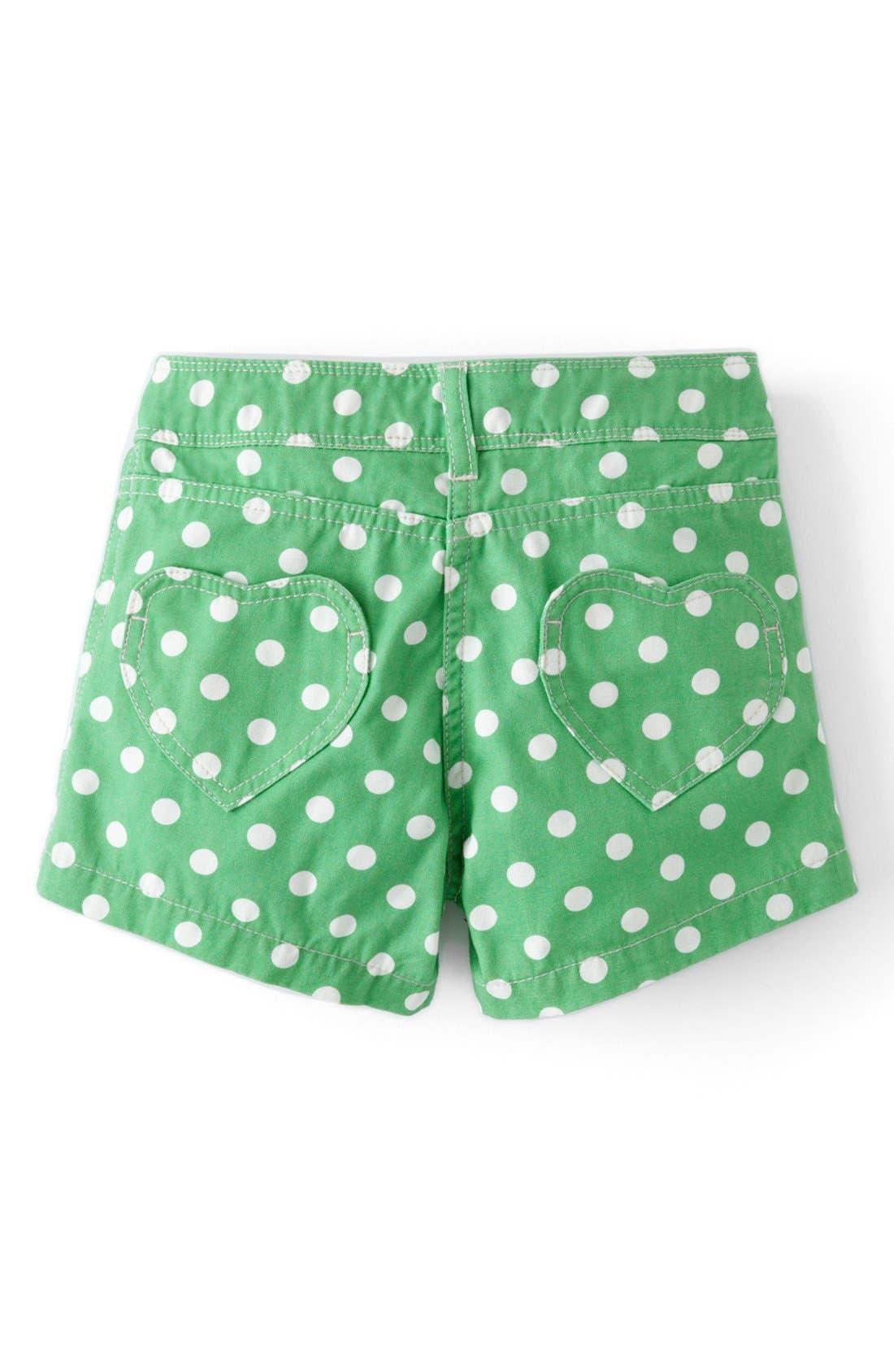 Alternate Image 2  - Mini Boden Heart Pocket Shorts (Toddler Girls, Little Girls & Big Girls)(Online Only)