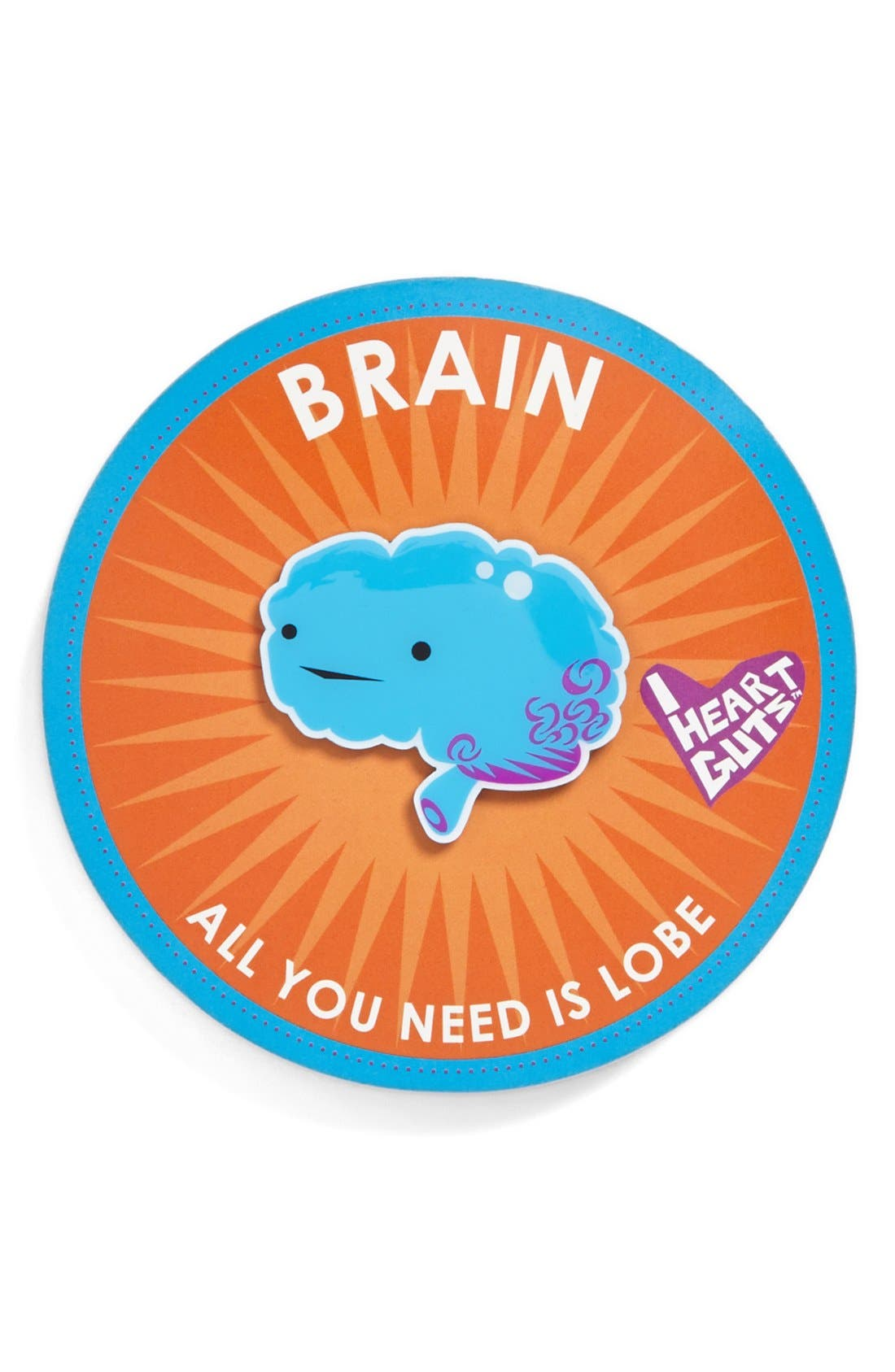 Alternate Image 2  - I Heart Guts 'All You Need Is Lobe' Brain Lapel Pin