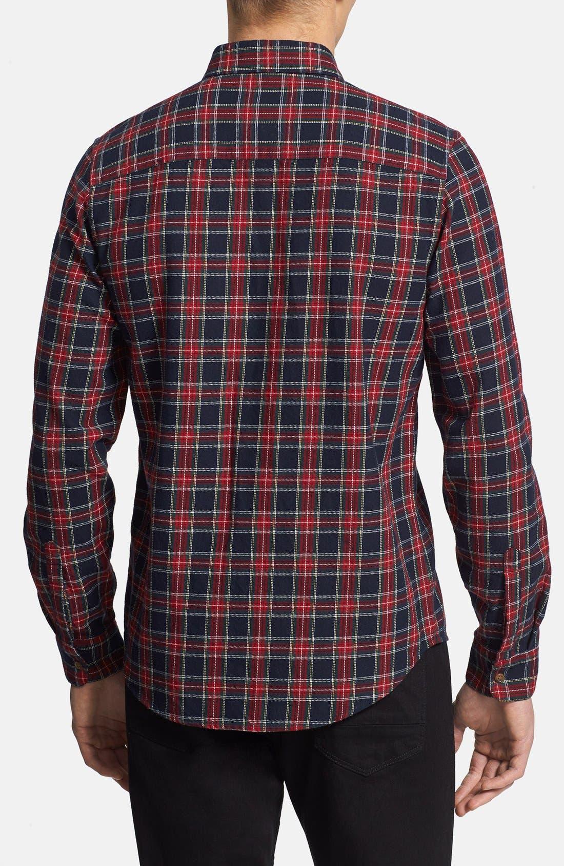 Alternate Image 2  - Topman Classic Fit Tartan Flannel Shirt