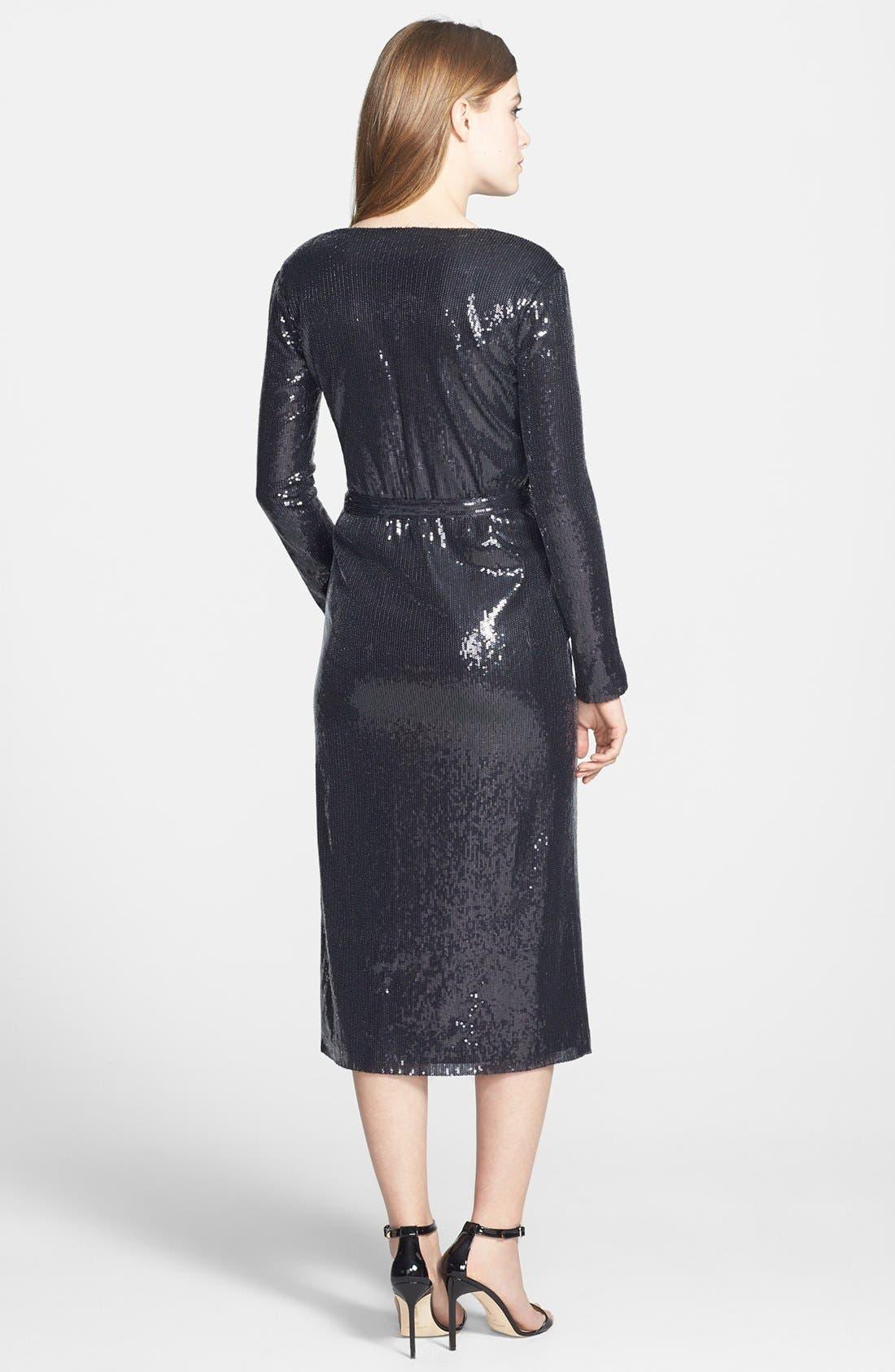 Alternate Image 2  - Halston Heritage Sequin Dress