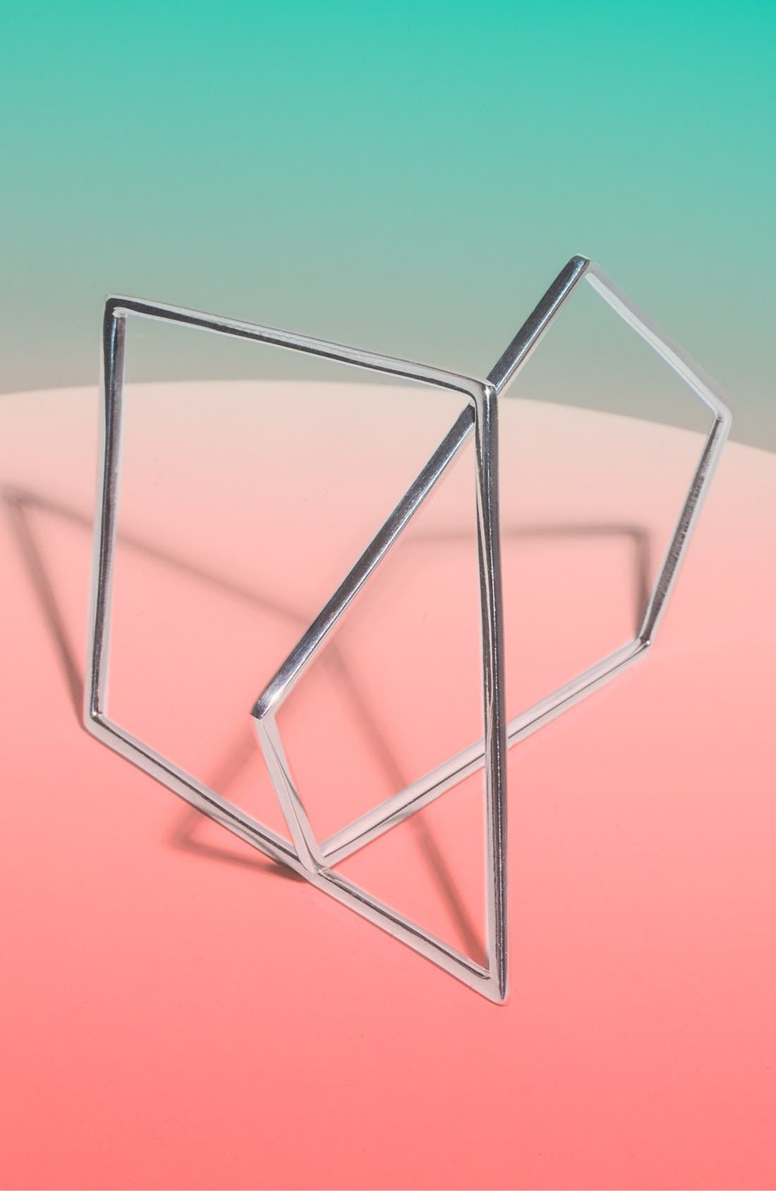 Alternate Image 1  - Moratorium Jewelry 'Angle Bangle' Sterling Silver Bracelets (Set of 2)
