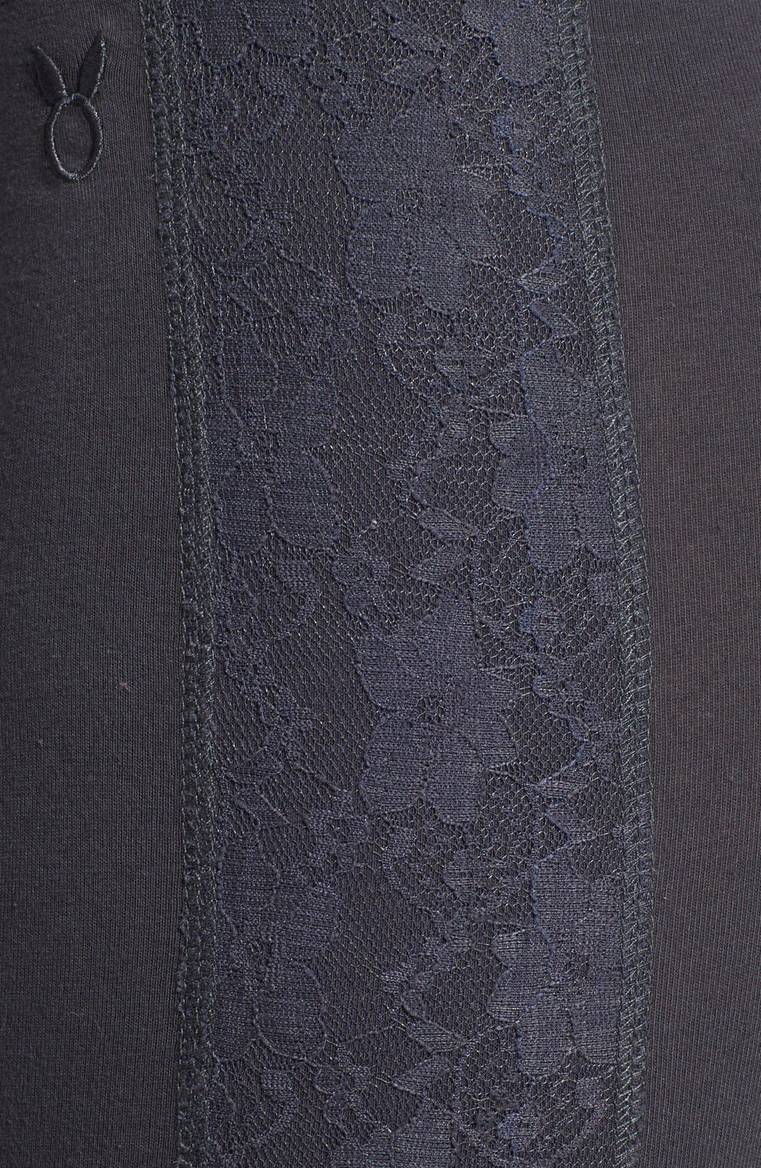 Alternate Image 4  - COZY ZOE 'Heart Breaker' Lace Panel Leggings