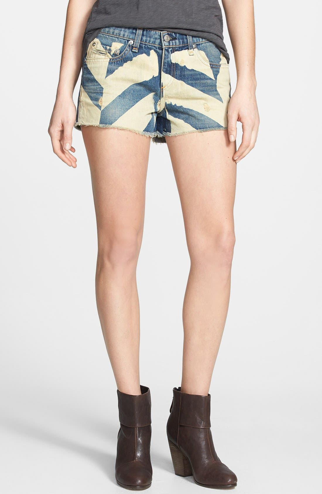 Alternate Image 1 Selected - rag & bone/JEAN Cutoff Denim Shorts