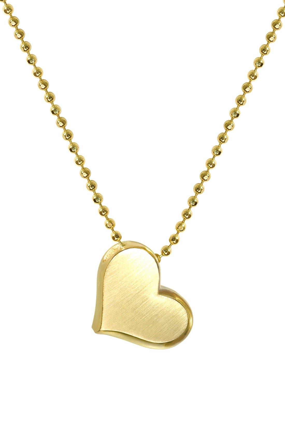 Alternate Image 1 Selected - Alex Woo 'Little Princess' Heart Pendant Necklace