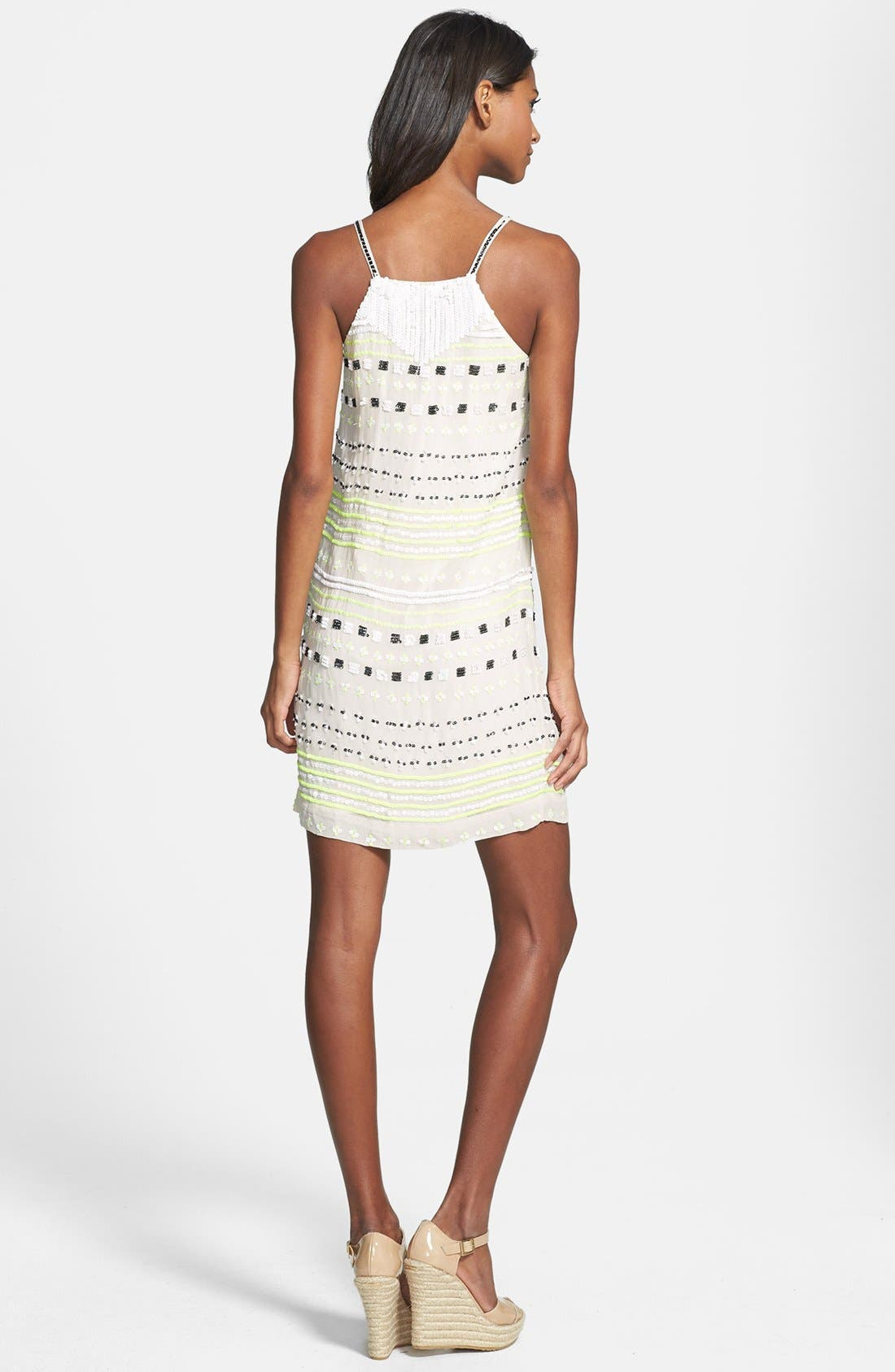 Alternate Image 2  - French Connection Geo Sequin Shift Dress