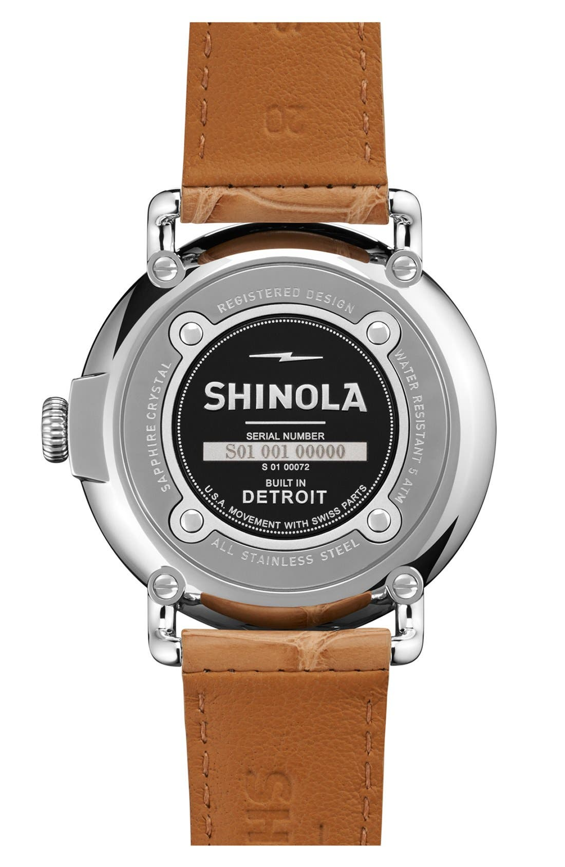 Alternate Image 2  - Shinola 'The Runwell' Alligator Strap Watch, 41mm