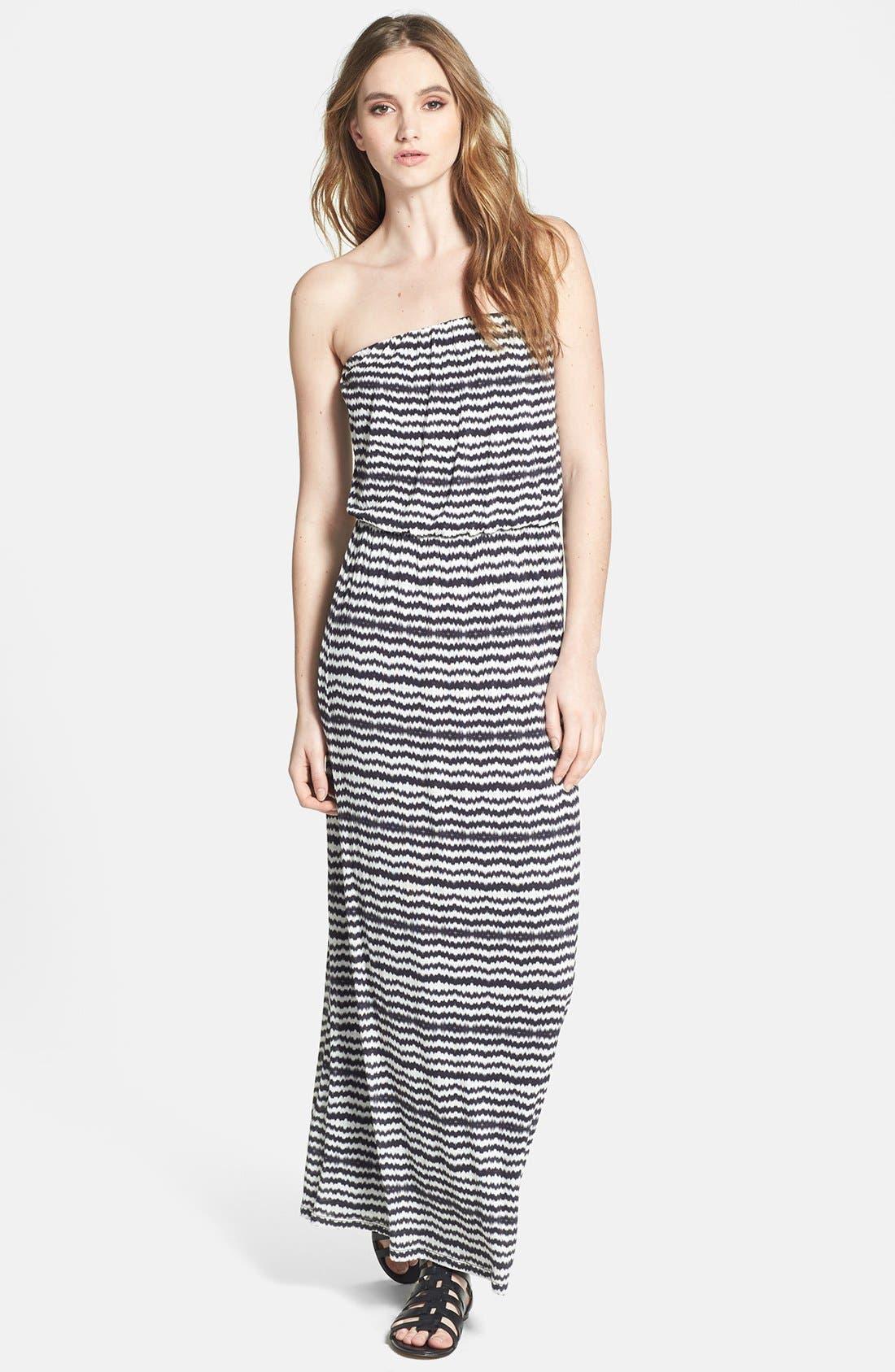 Main Image - Velvet by Graham & Spencer Geo Stripe Maxi Dress