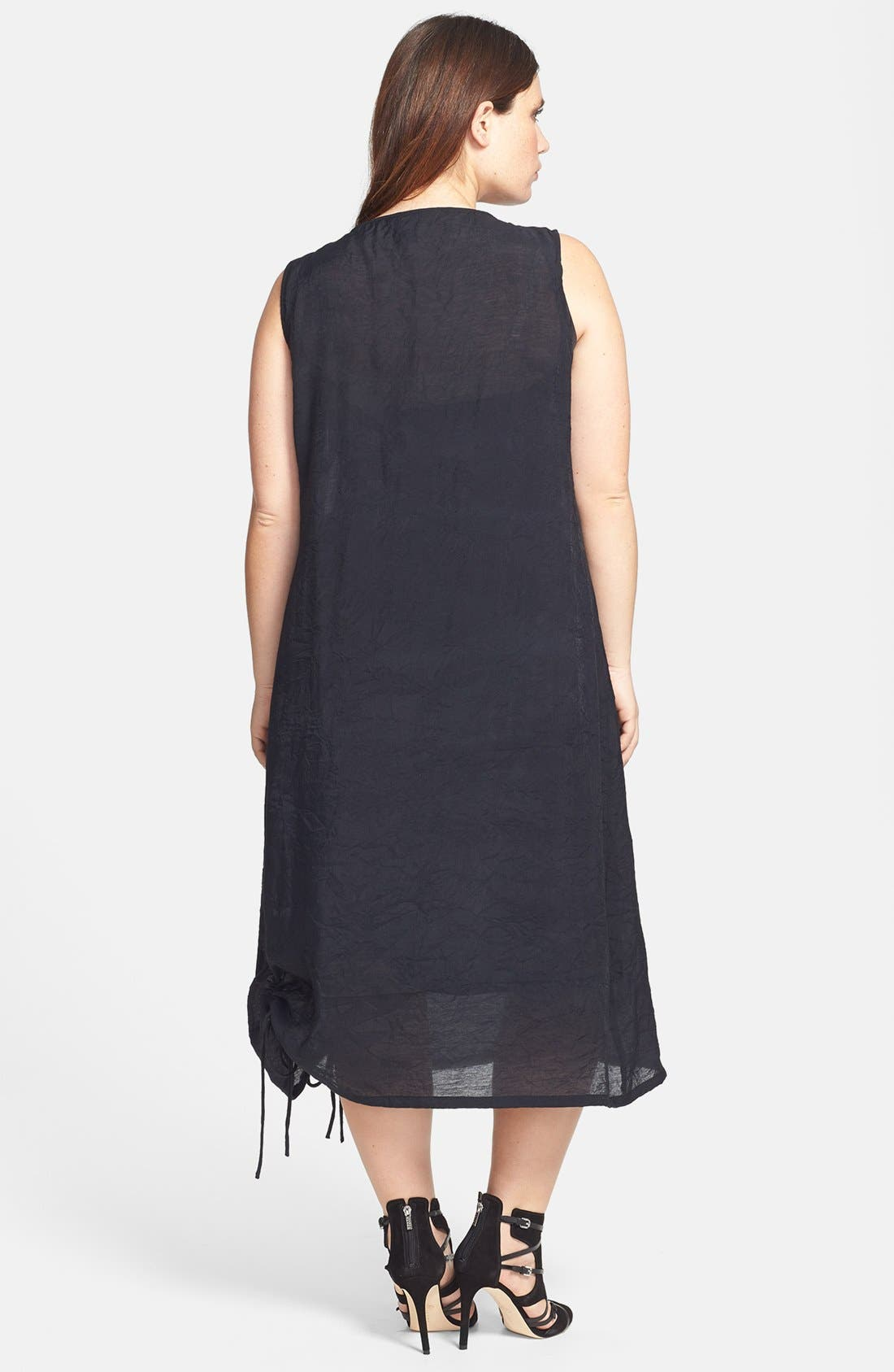 Alternate Image 2  - Citron Ruched Sleeveless Dress (Plus Size)