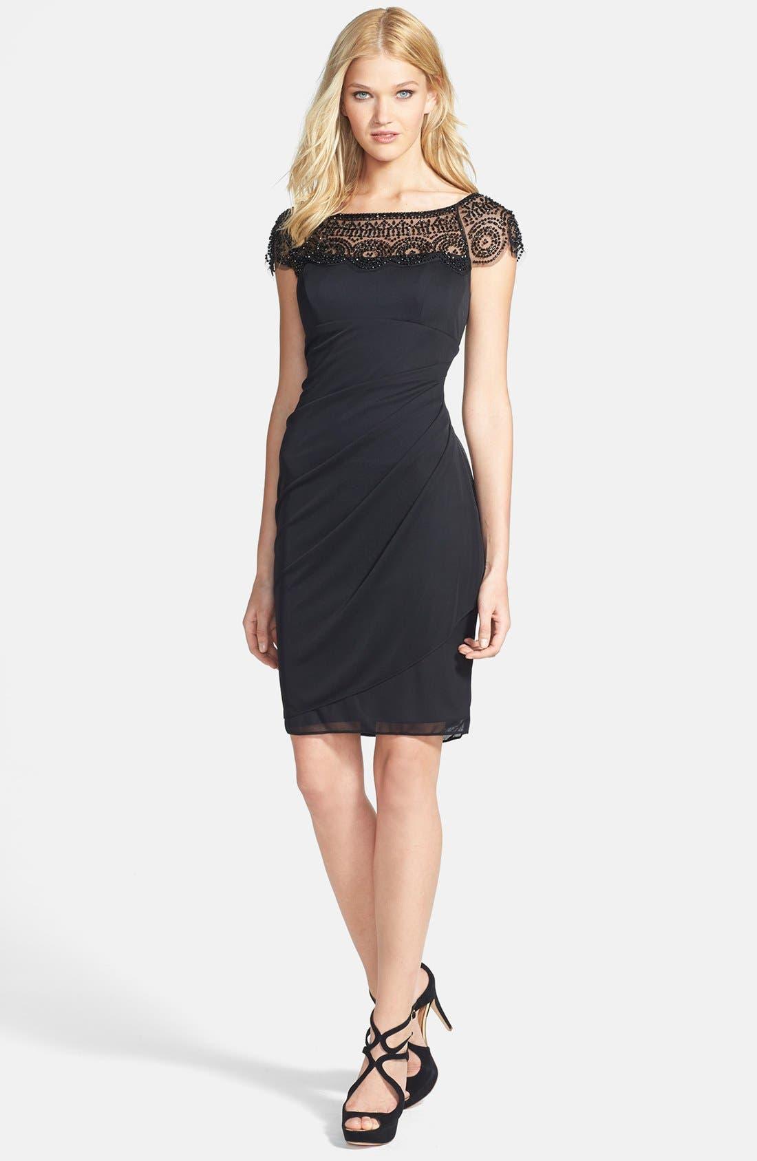 Alternate Image 2  - Xscape Embellished Ruched  Sheath Dress