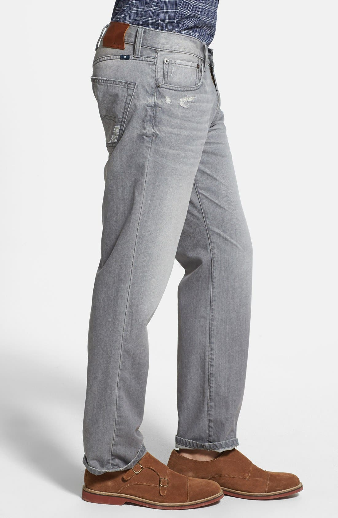 Alternate Image 3  - Lucky Brand '221 Original' Straight Leg Jeans (Sediment)