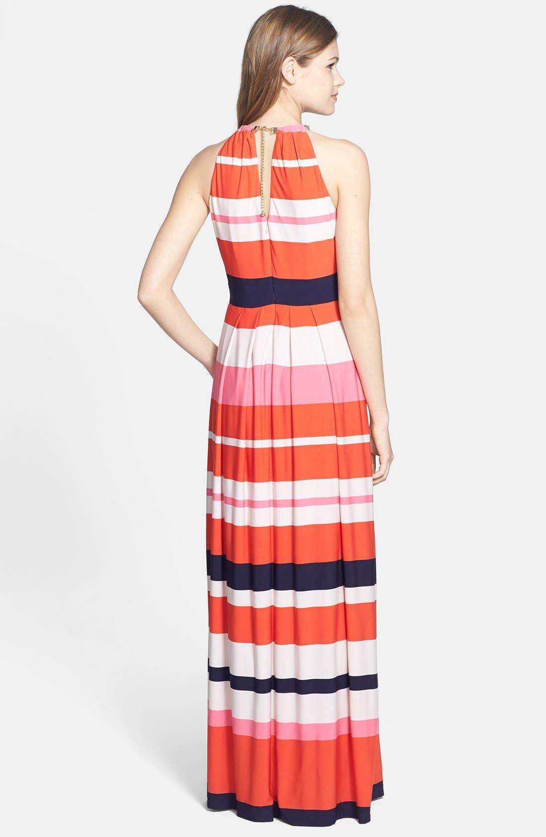 Alternate Image 2  - Eliza J Stripe Jersey Maxi Dress (Regular & Petite)
