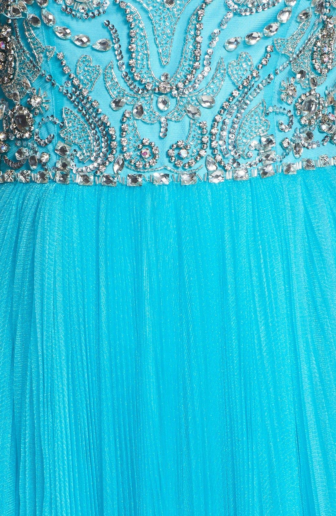 Alternate Image 3  - Sherri Hill Cap Sleeve Embellished Ballgown